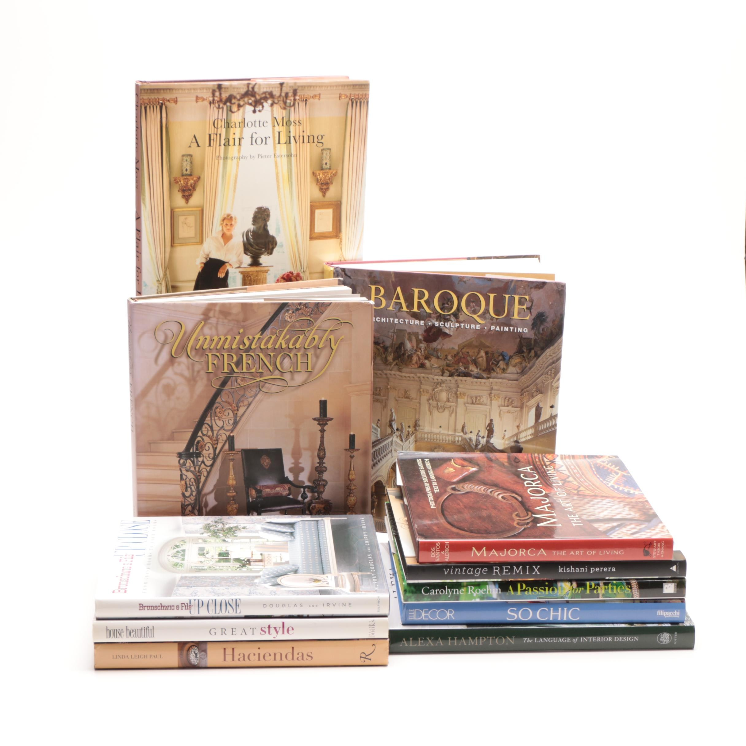 Group of Home Decoration Books