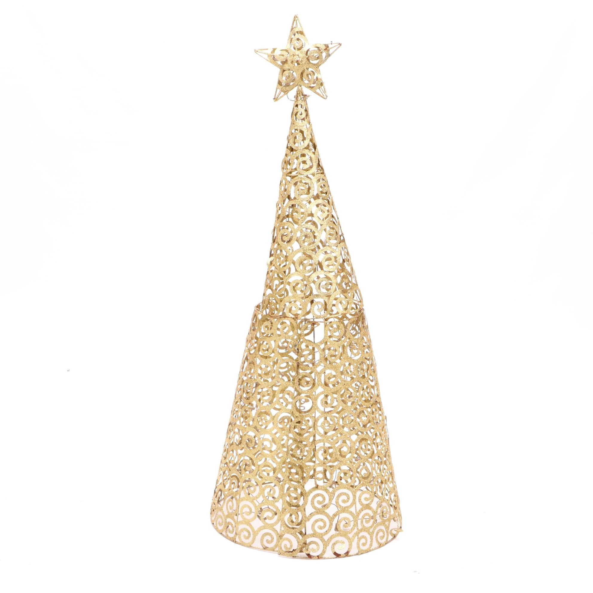 Light-Up Metal Christmas Tree Decor