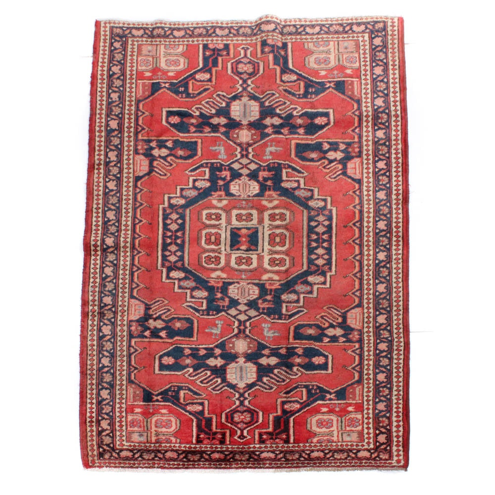 Hand-Knotted Persian Malayer Rug