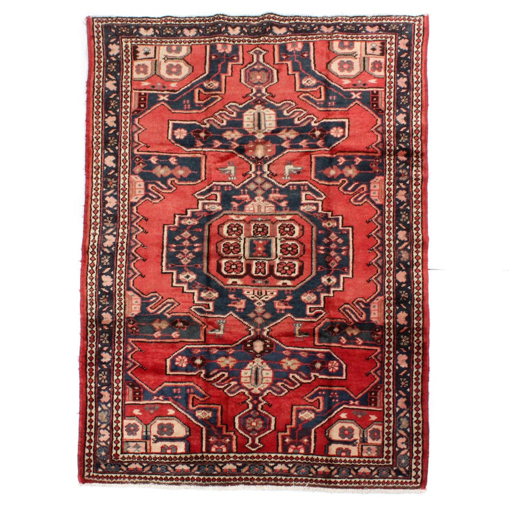 Hand-Knotted Persian Mahal Rug