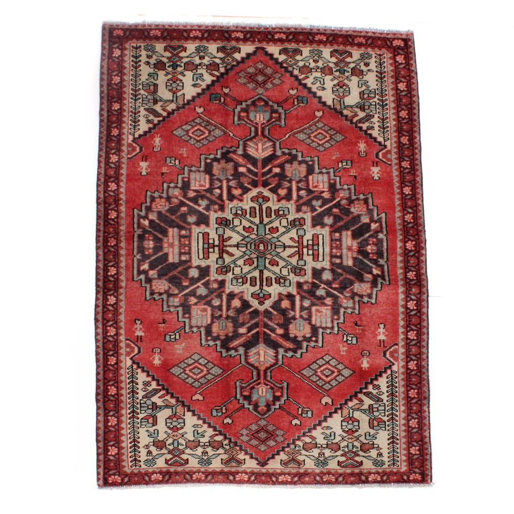 Hand-Knotted Northwest Persian Pictorial Rug