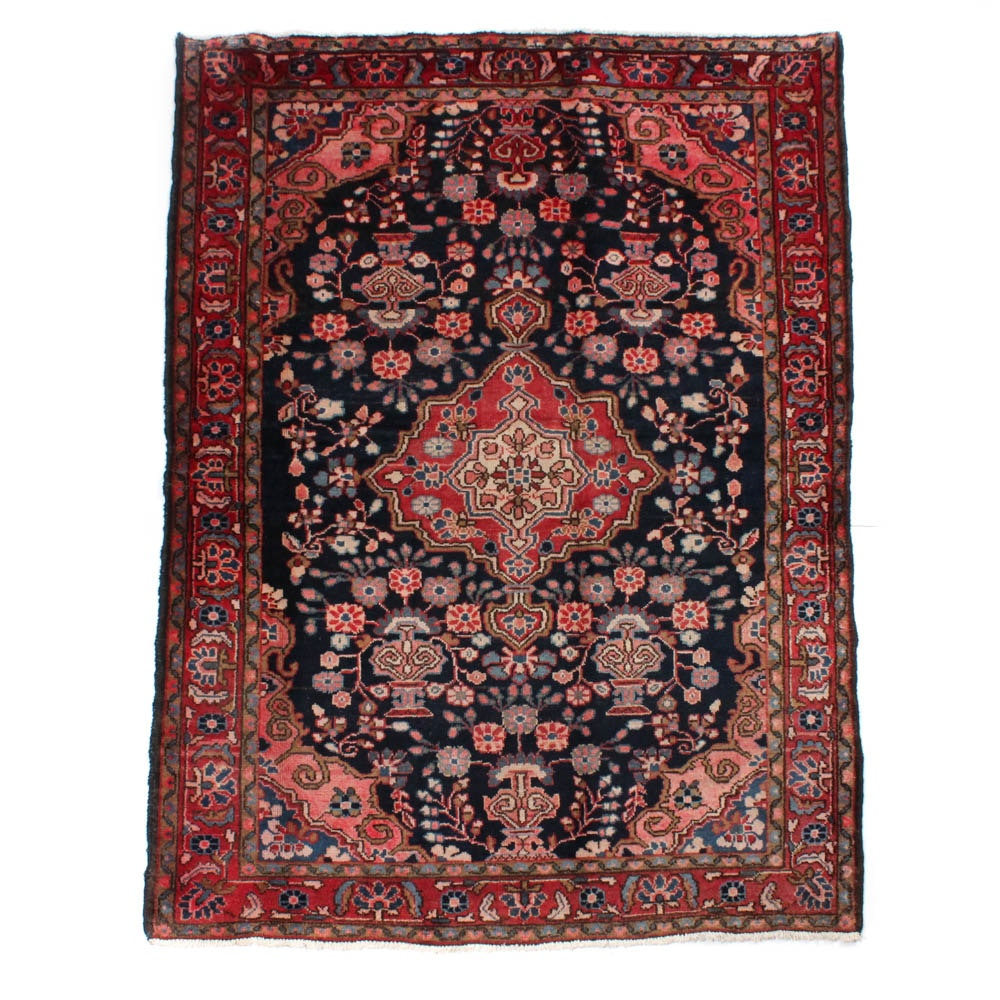 Hand-Knotted Persian Malayer Vases of Flowers Rug
