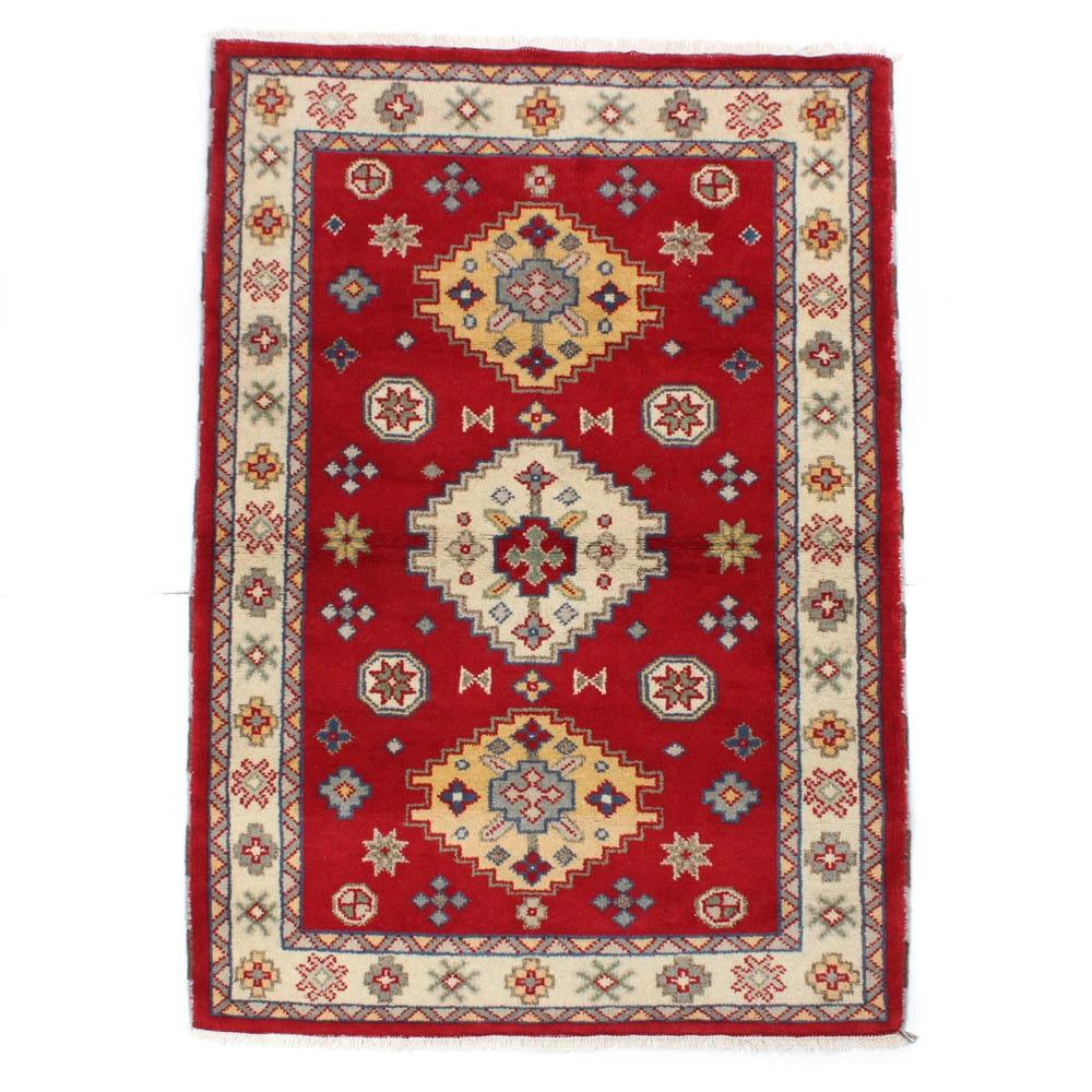 Hand-Knotted Indo-Caucasian Kazak Rug