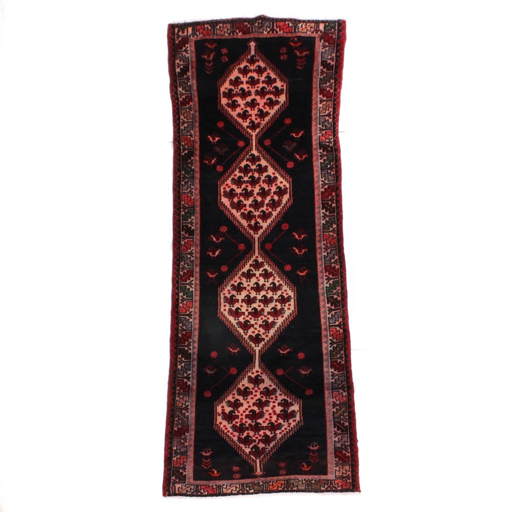 Hand-Knotted Northwest Persian Pictorial Carpet Runner
