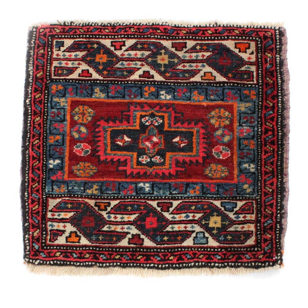 1'10 x 1'11 Hand-Knotted Persian Heriz Rug, circa 1920