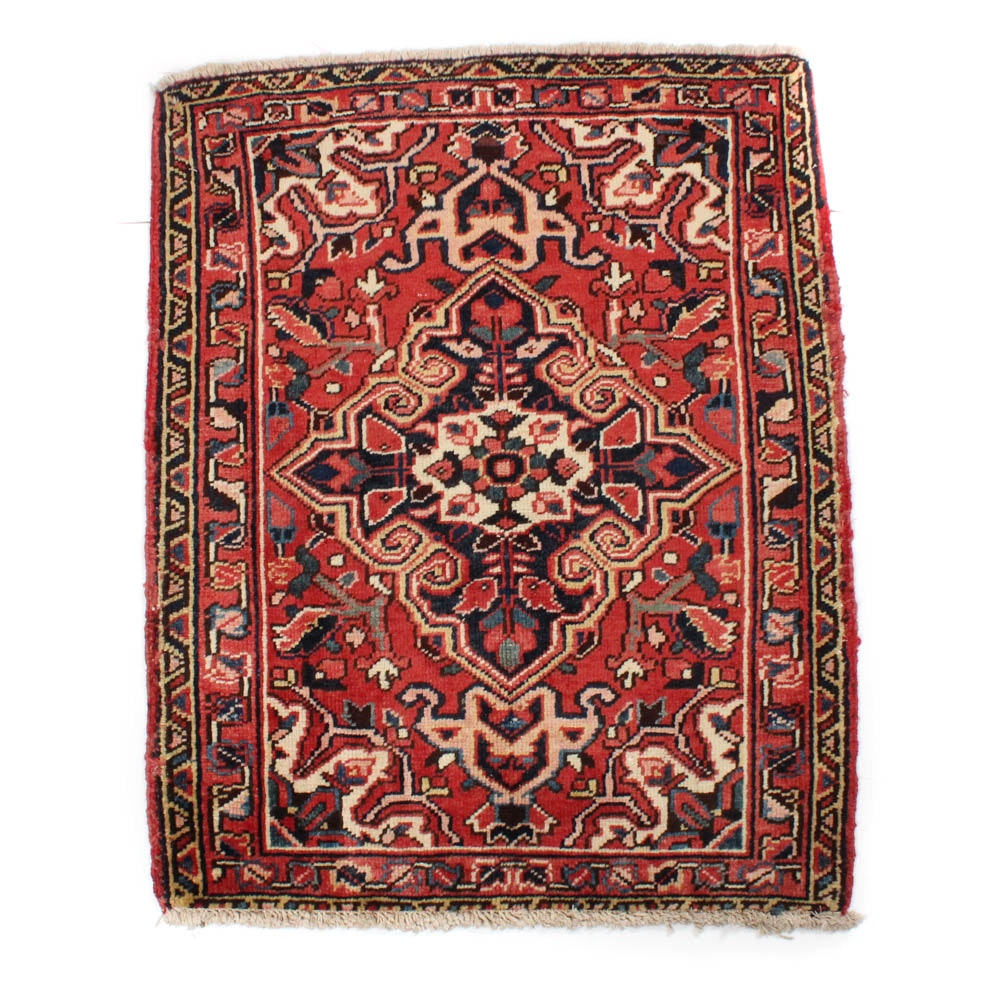 Hand-Knotted Persian Heriz Rug