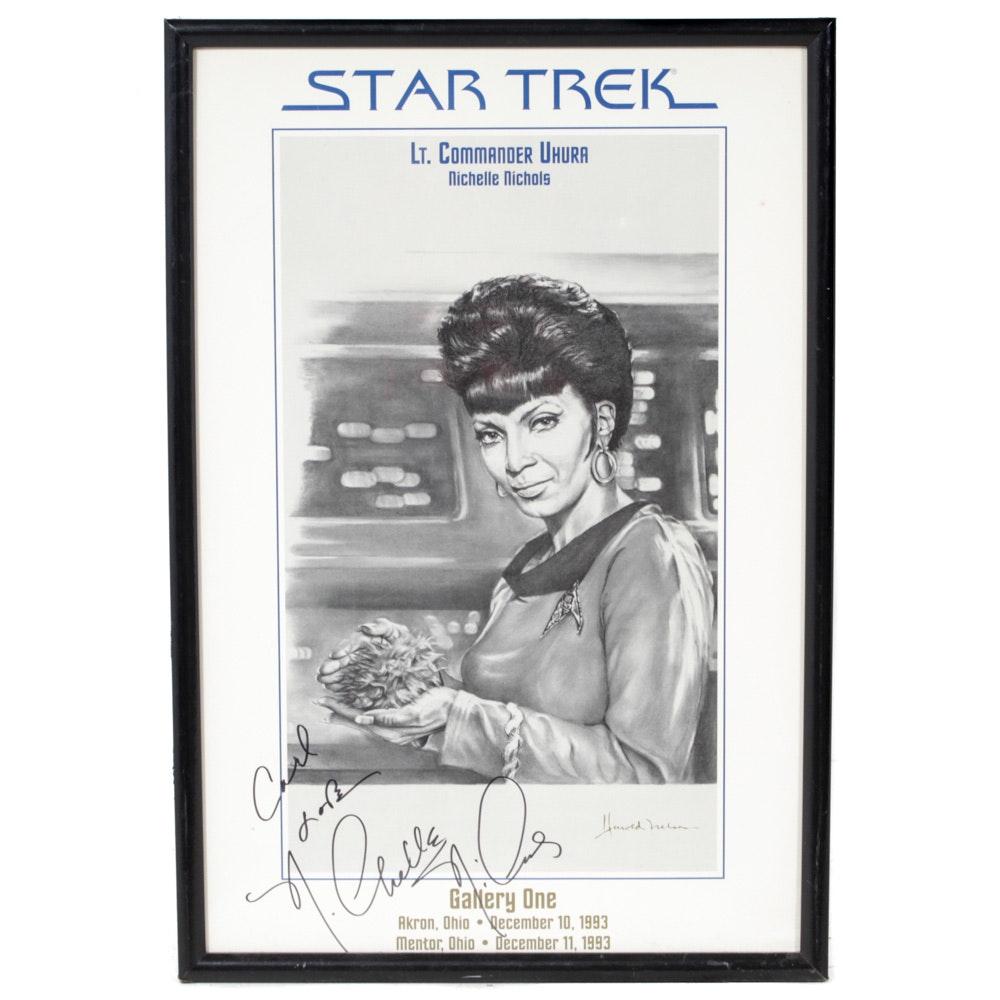 Nichelle Nichols Autographed Star Trek Poster