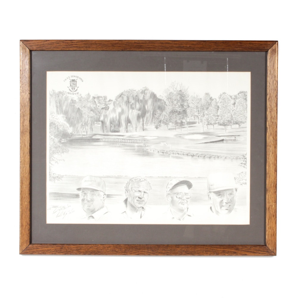 William Van Zandt Scioto 7th US Senior Open Signed Offset Print