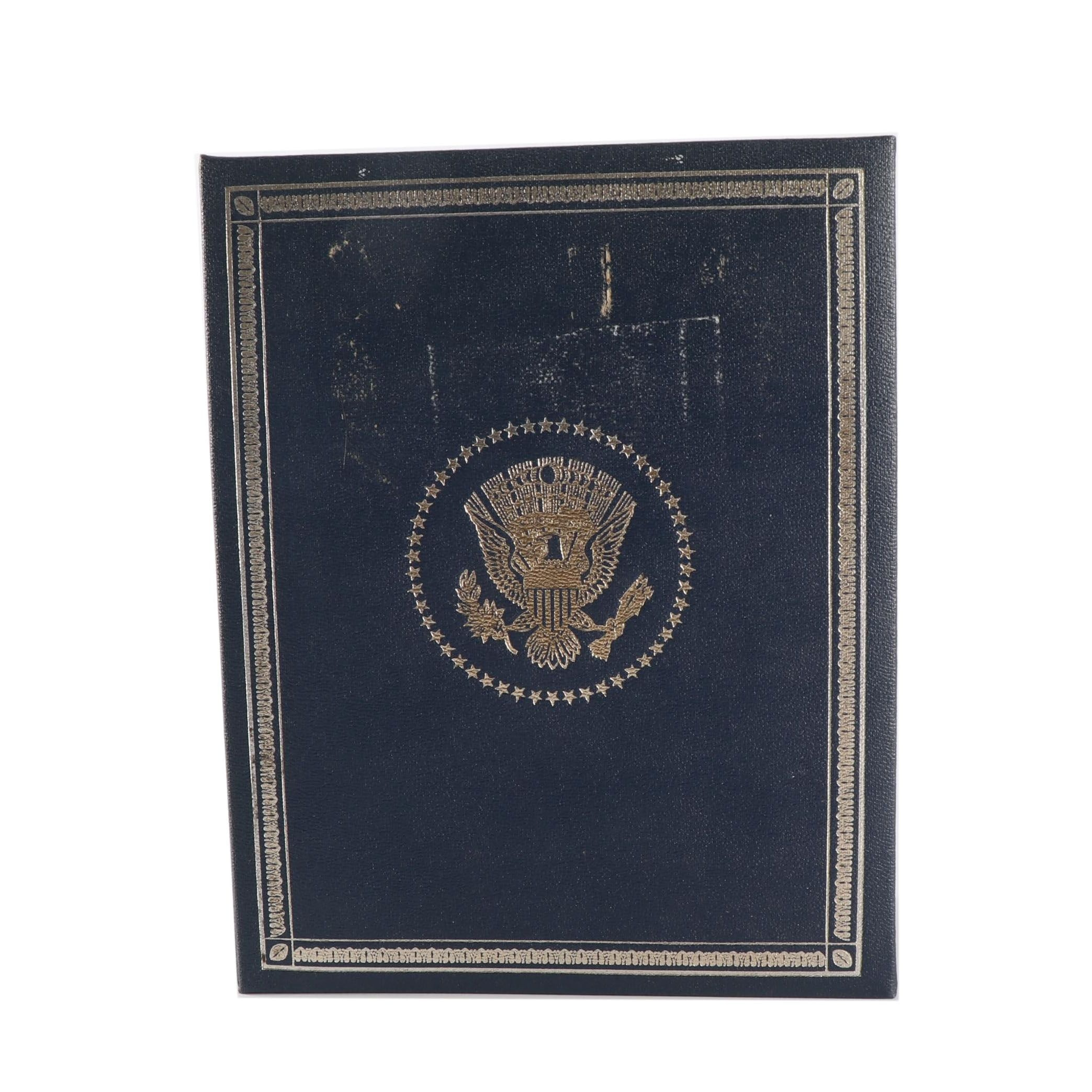 Franklin Mint Treasury 36 Presidential Profile .925 Sterling Medals Album
