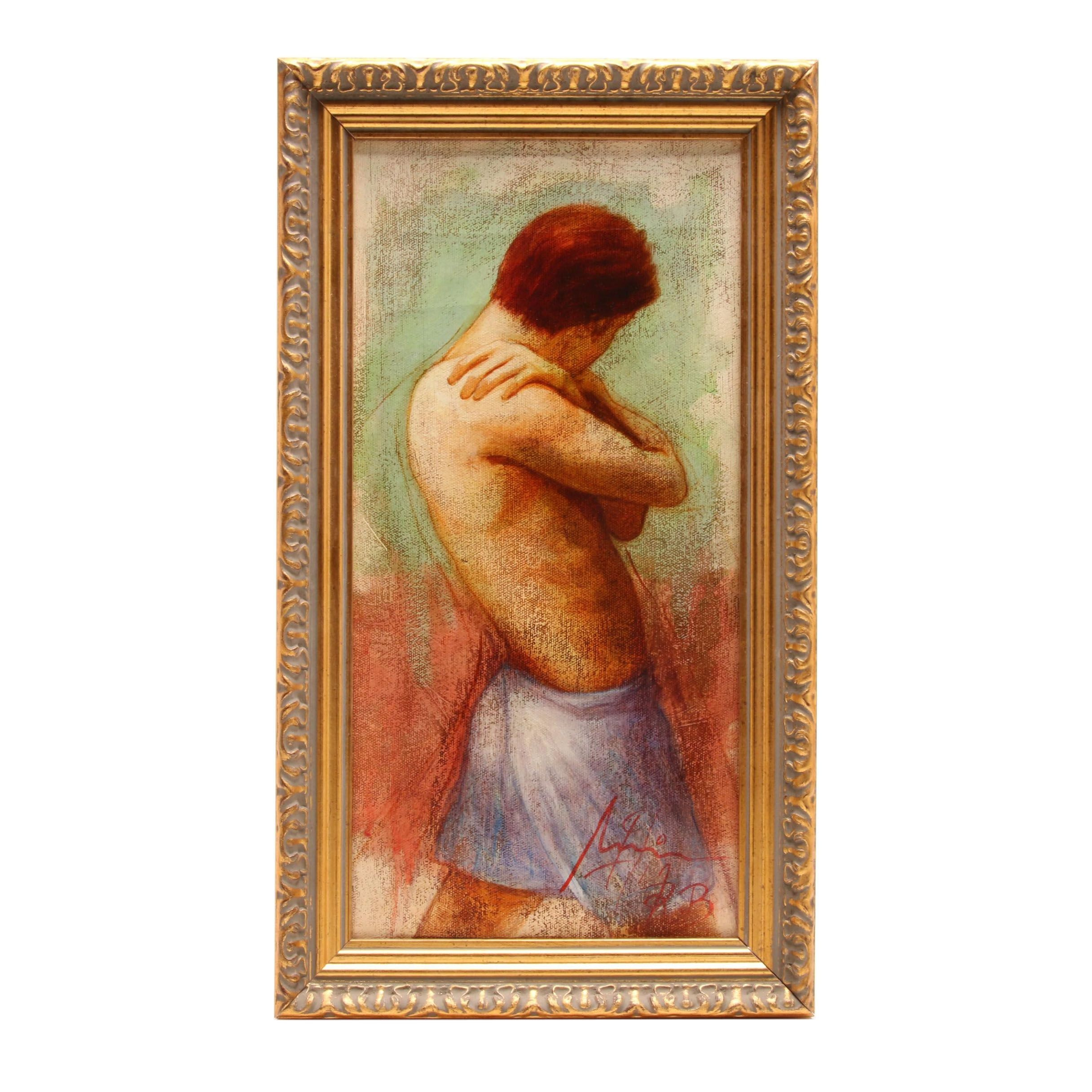 Figure Study Oil Painting of Standing Male