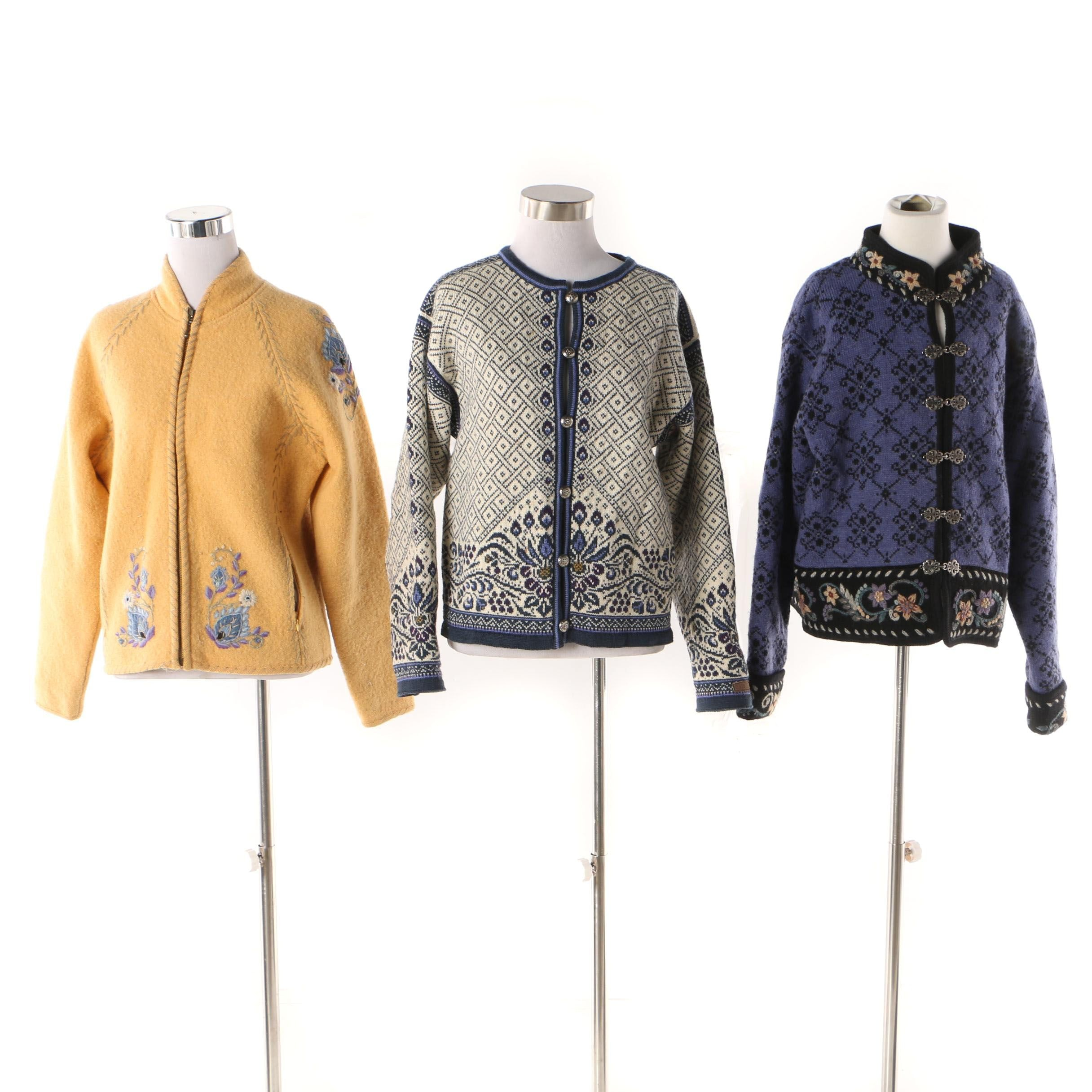 Women's Icelandic Design and Dale of Norway Sweaters