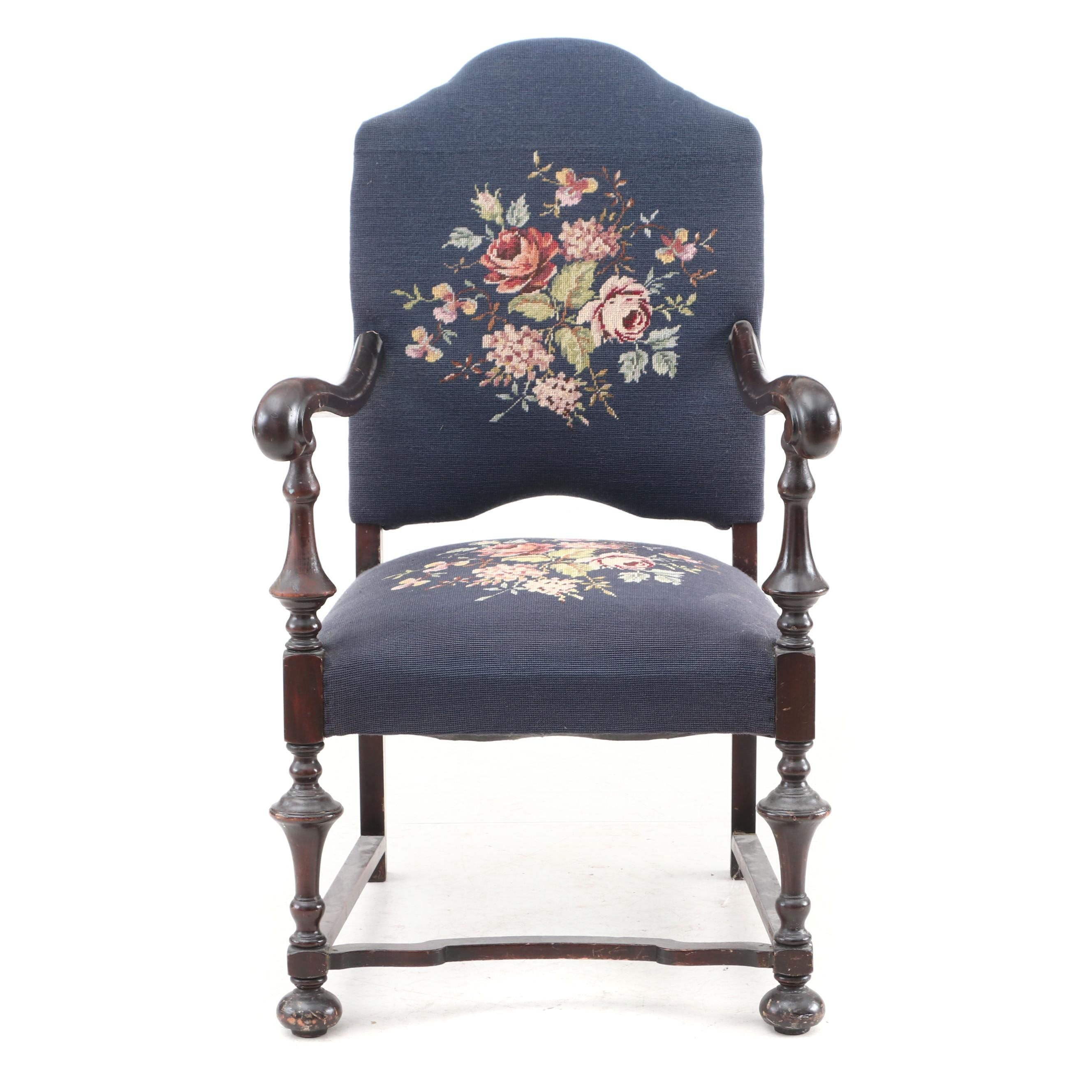 1920s William and Mary Style Armchair