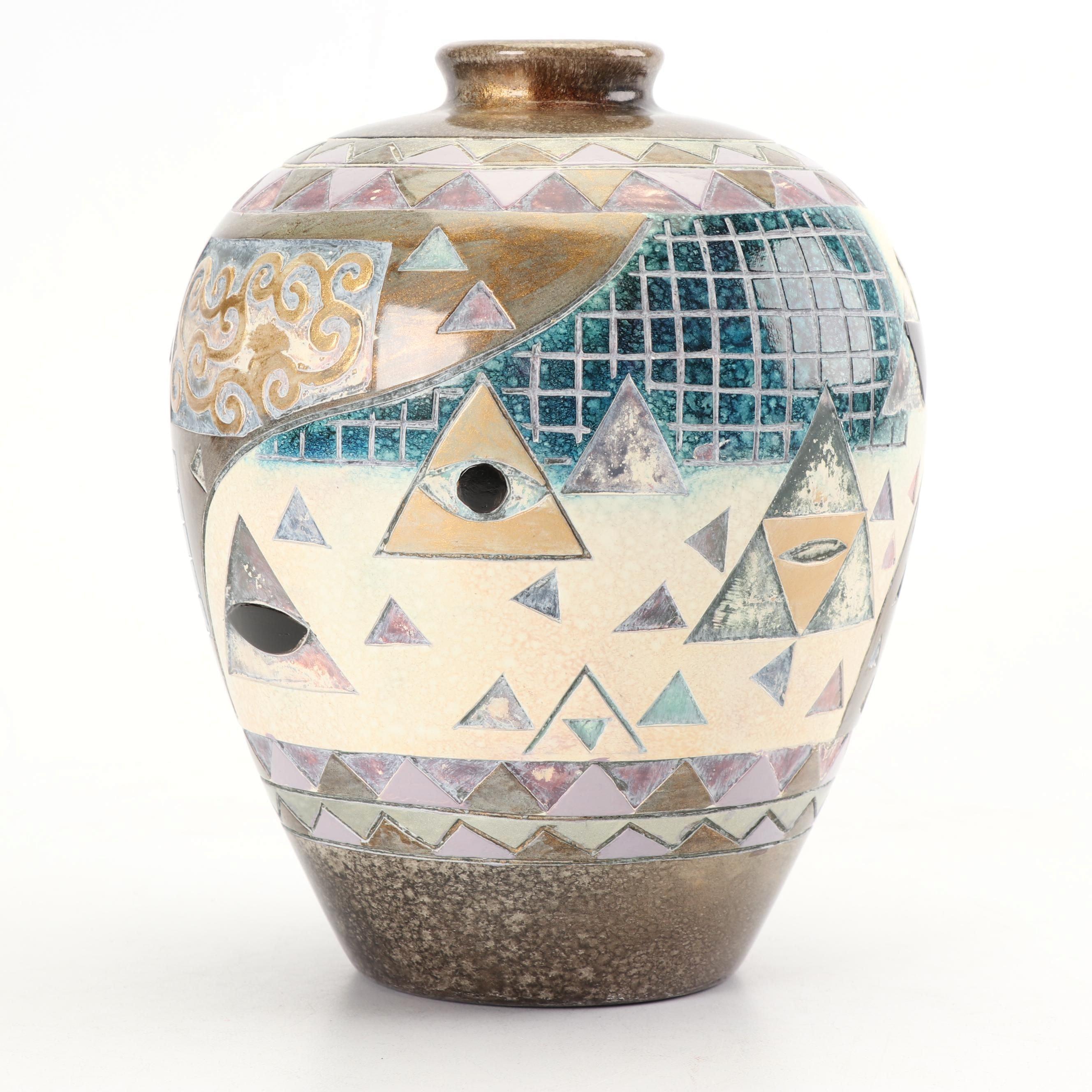 Decorative Chinese Ceramic Urn