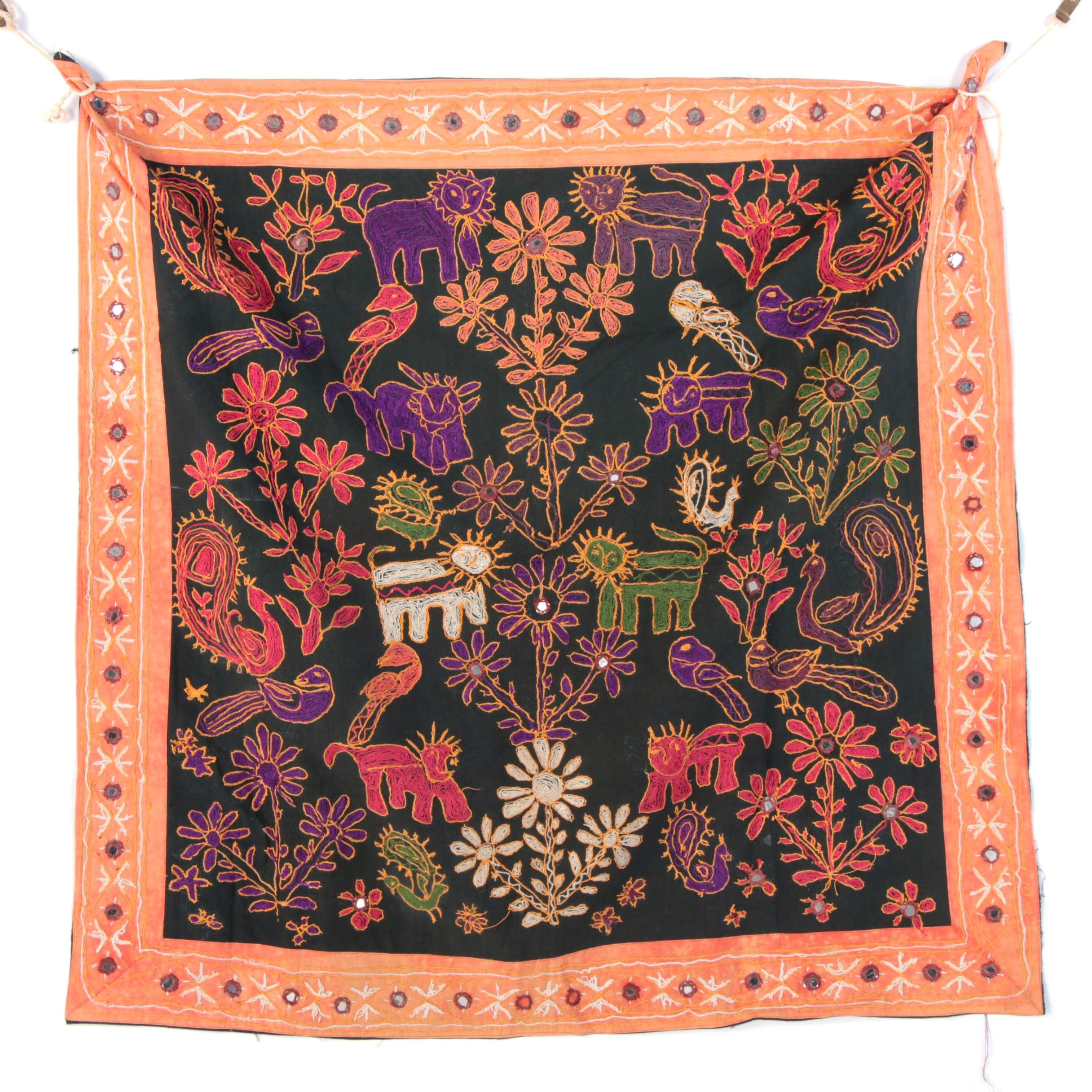 Hand Embroidered Indian Wall Tapestry