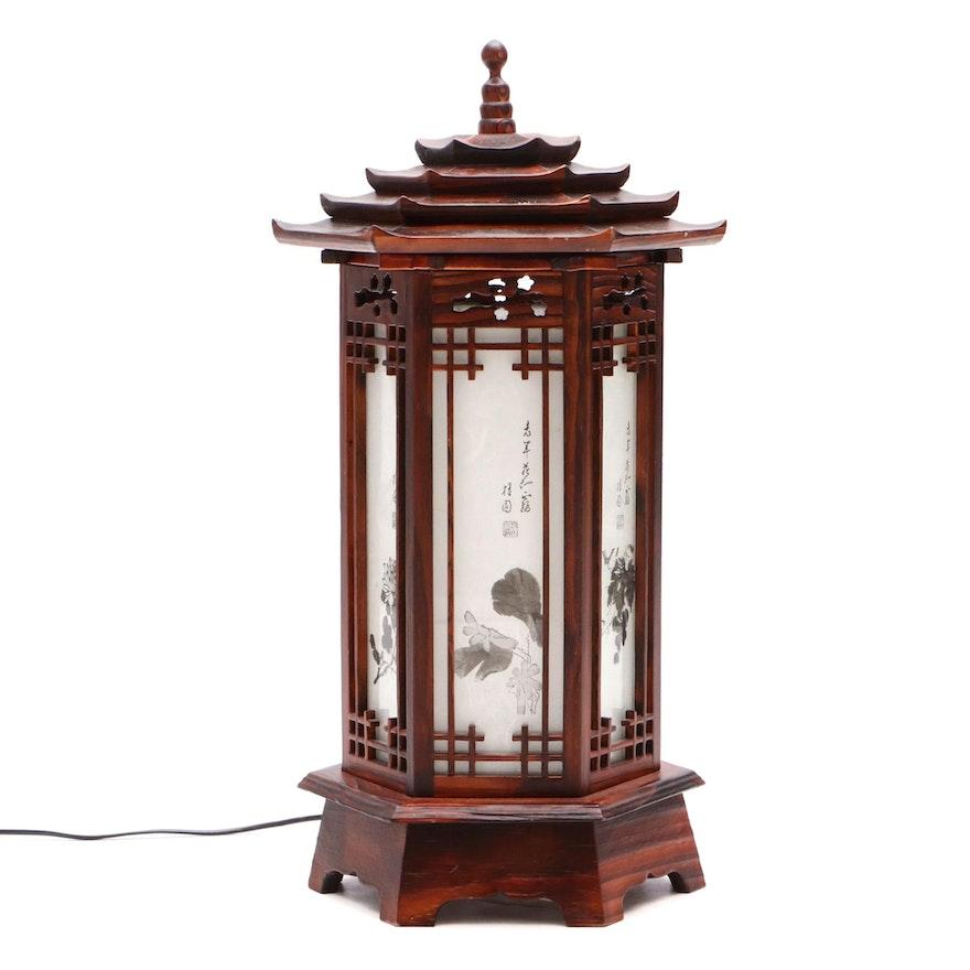 Korean Lantern Style Table Lamp Ebth