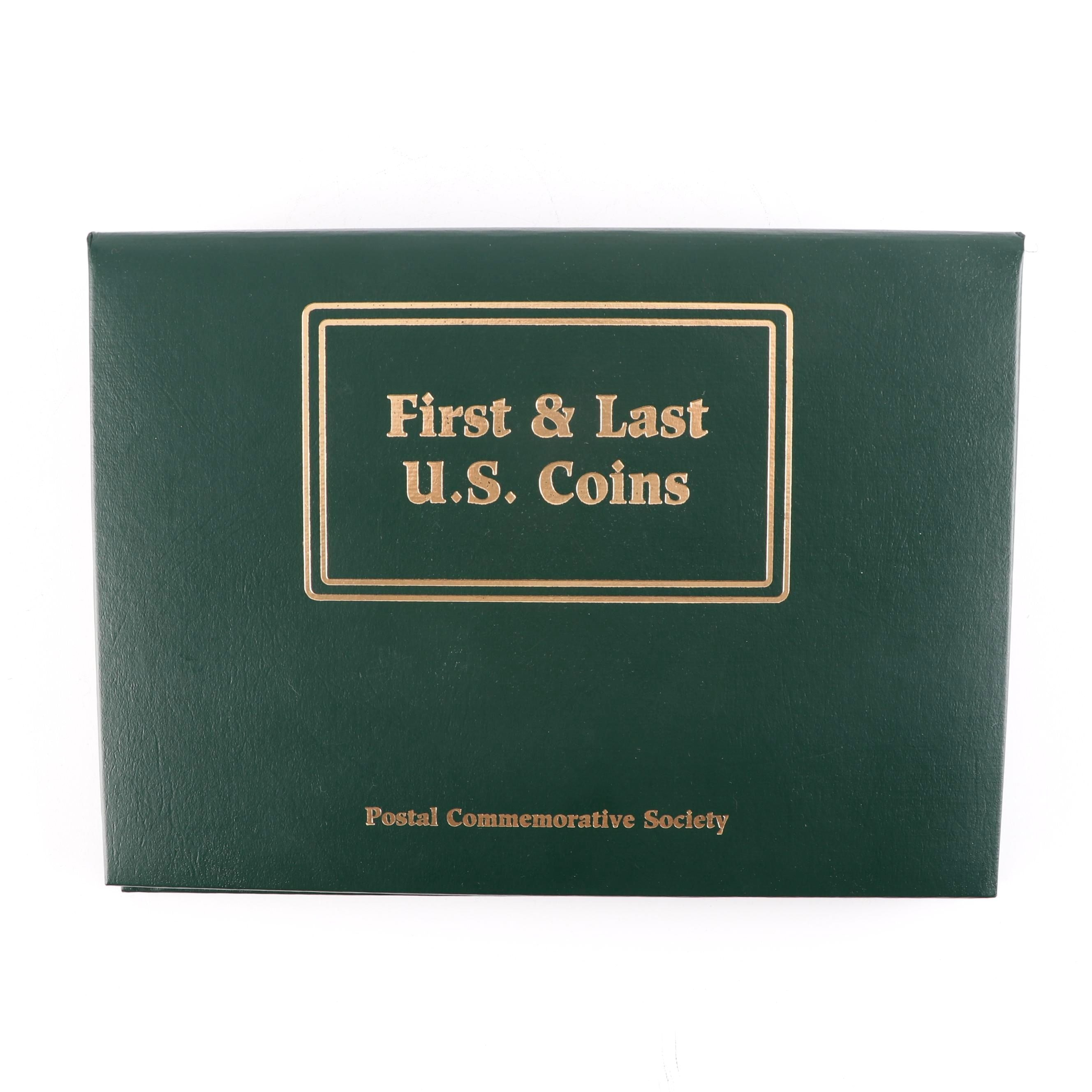 Postal Commemorative Society 18 First & Last U.S. Coins Album