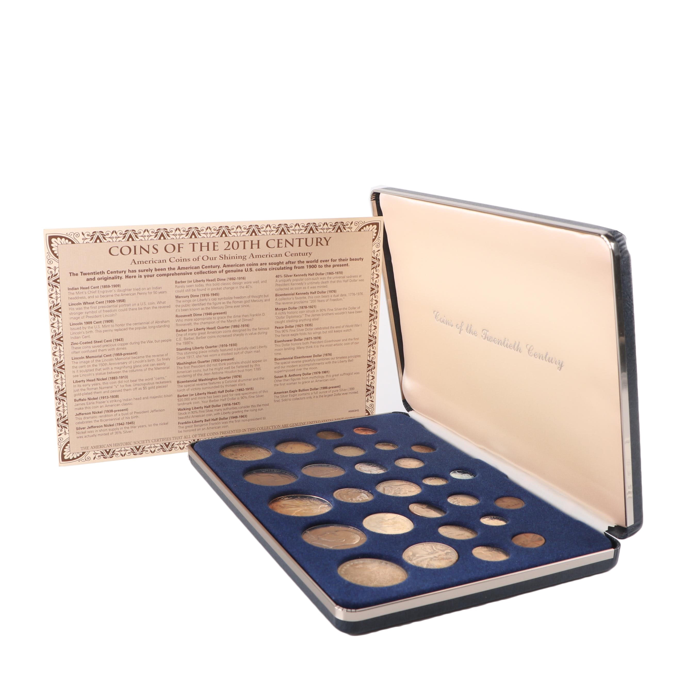 American Historic Society Coins of The Twentieth Century Collection