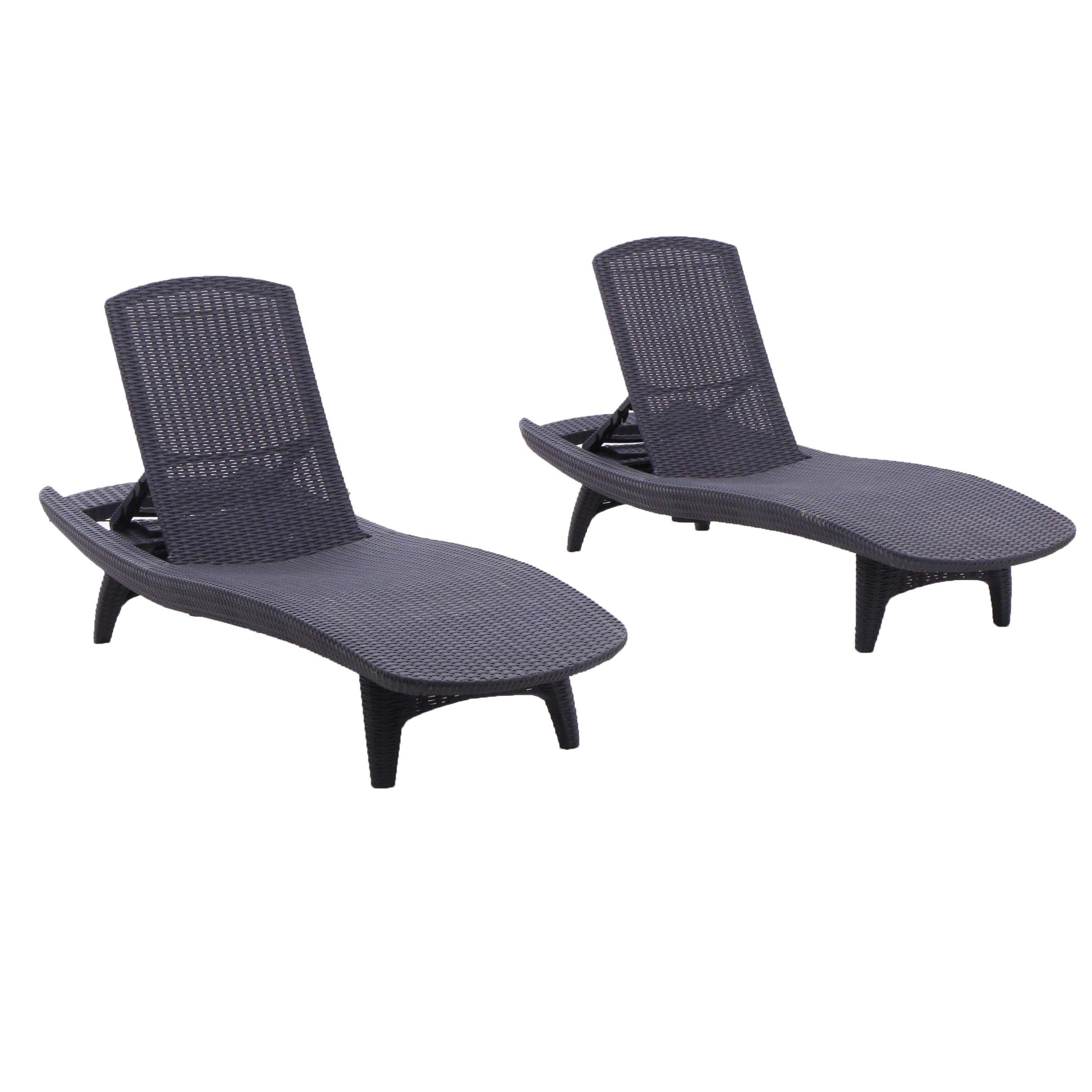 Patio Lounge Chairs in Black