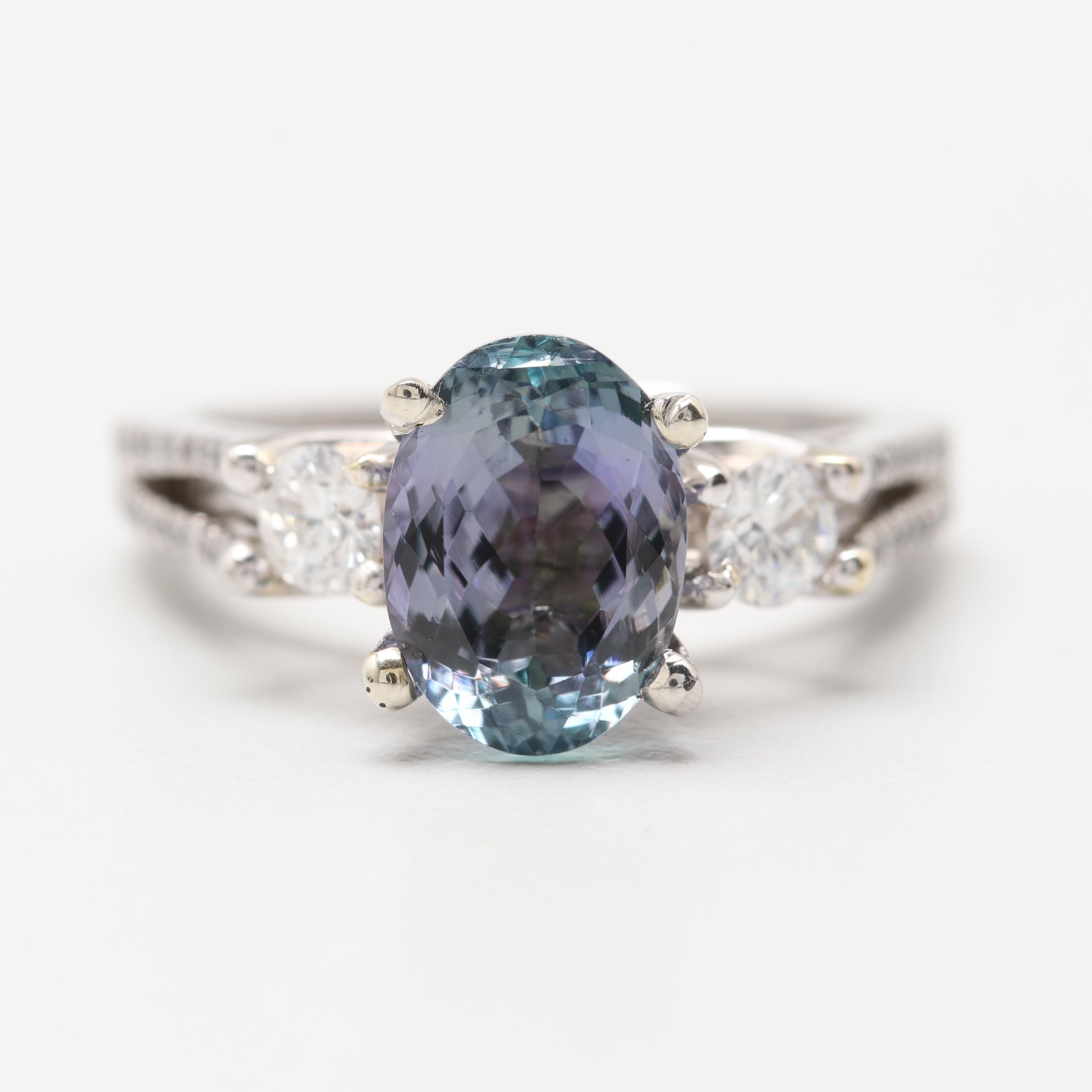 Verragio Platinum 2.33 CT Tanzanite and Diamond Ring