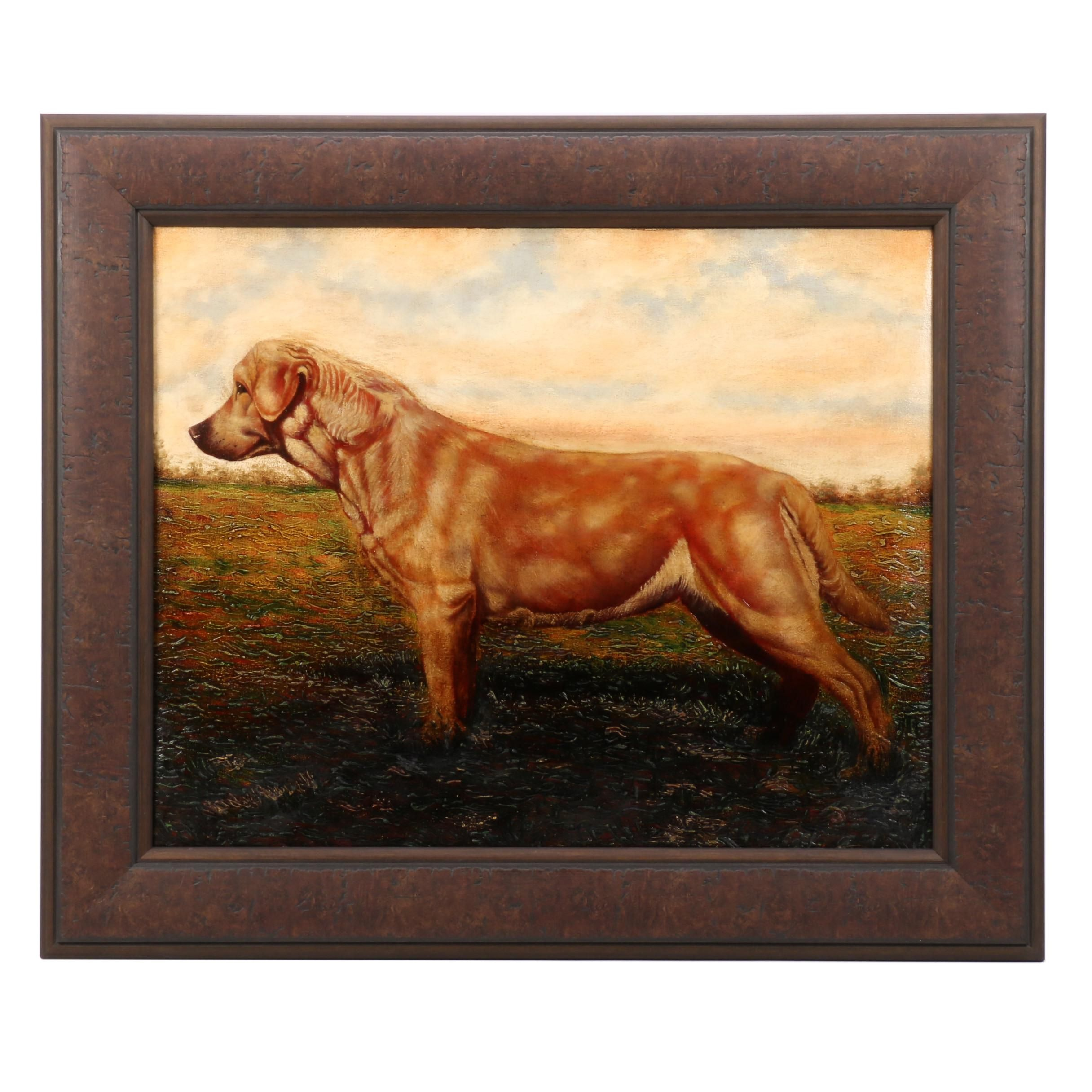 Raez Contemporary Oil Painting of a Dog