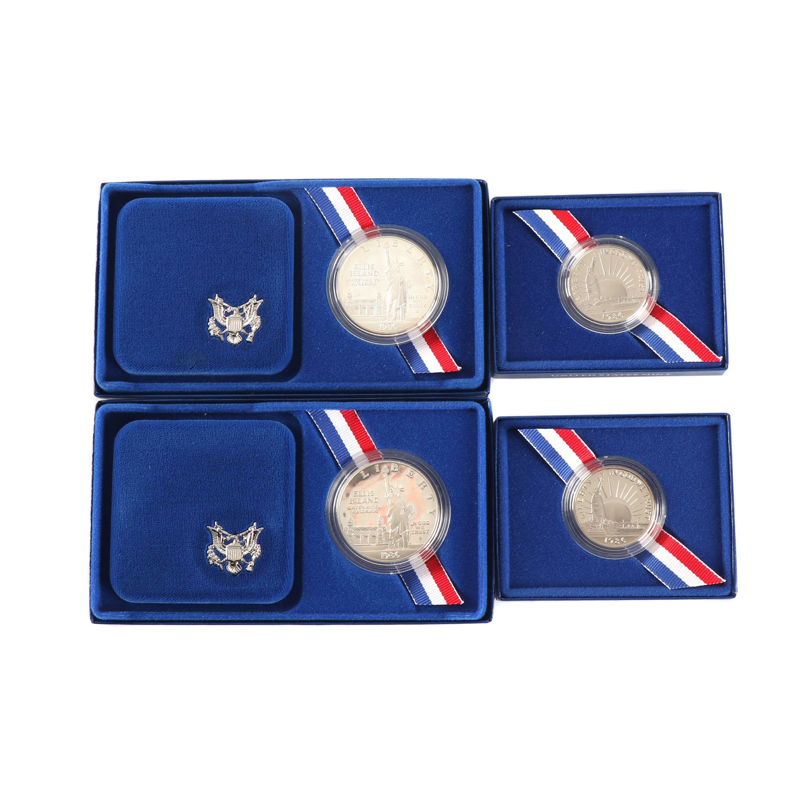 1986-S U.S. Mint Statue of Liberty Centennial Commemorative Coin Sets
