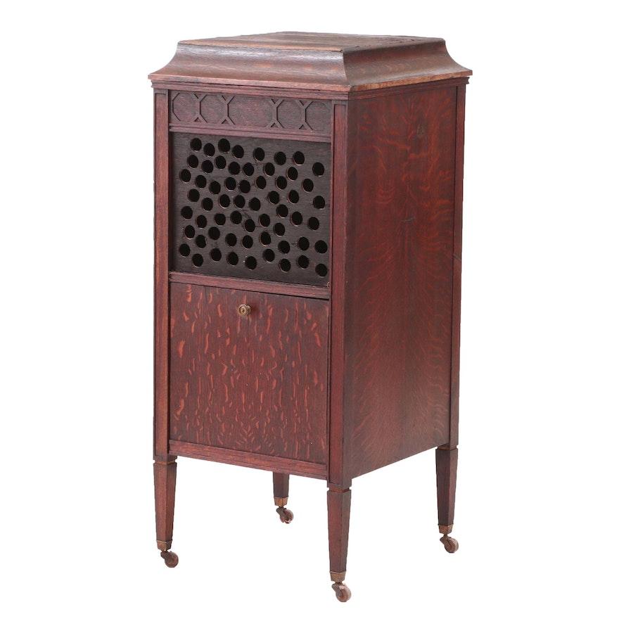 - Antique Edison Phonograph Cabinet In Oak : EBTH