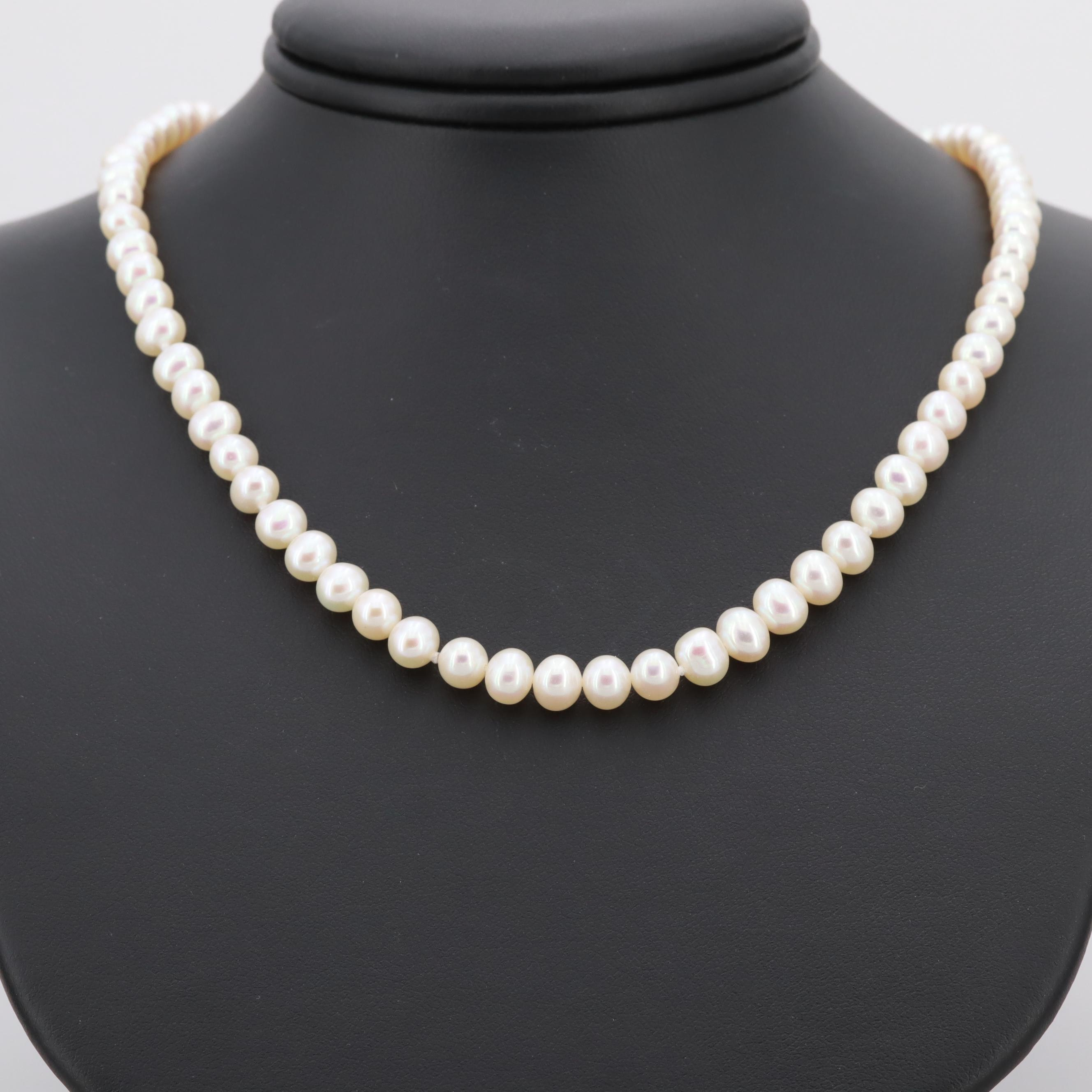 14K Yellow Cultured Pearl Necklace