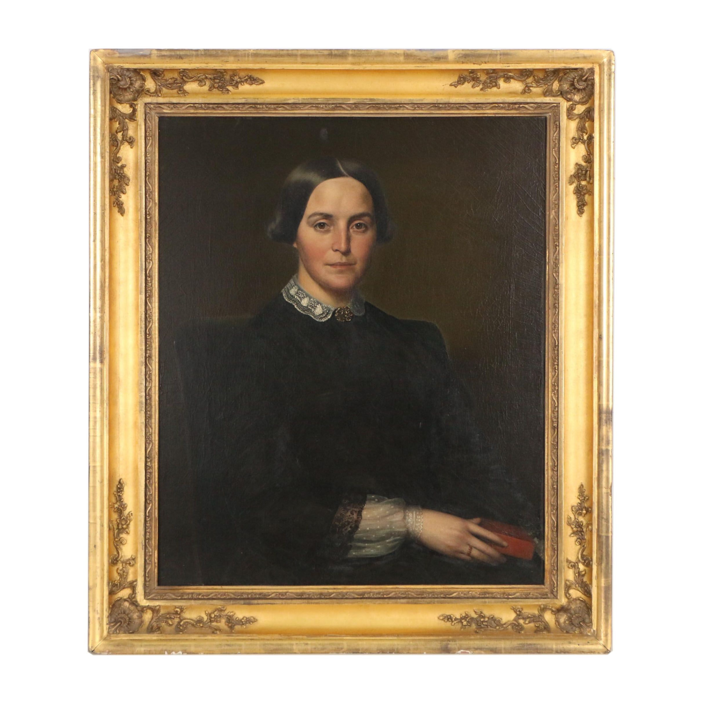Portrait Oil Painting Attributed to Joseph Allen Haskell