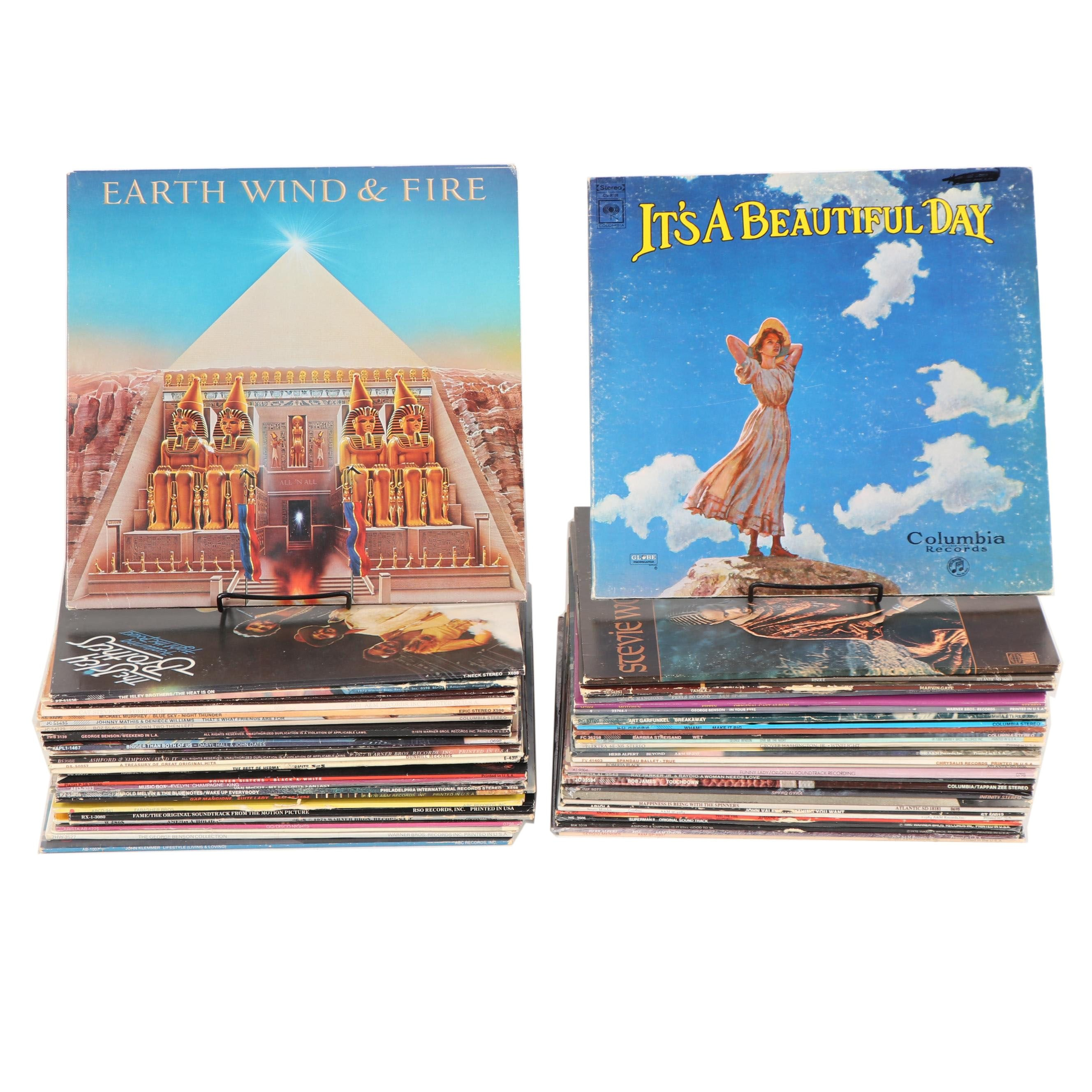 1970s-1980s R&B and Pop Records including Earth, Wind & Fire