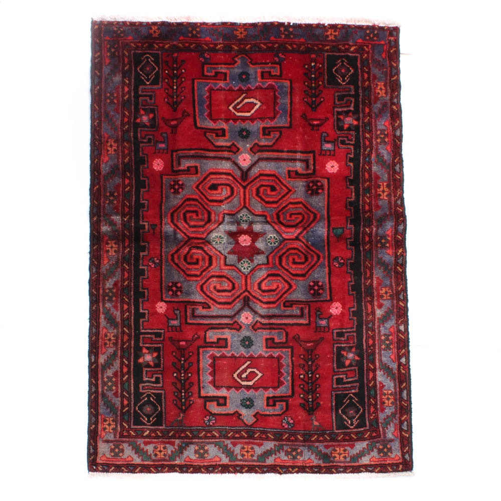 Hand-Knotted Persian Zanjan Rug