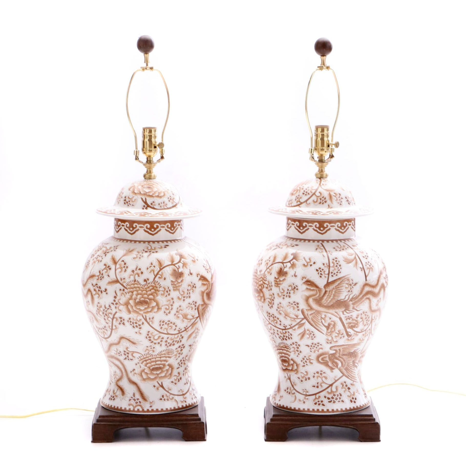 Two Contemporary Asian Style Table Lamps