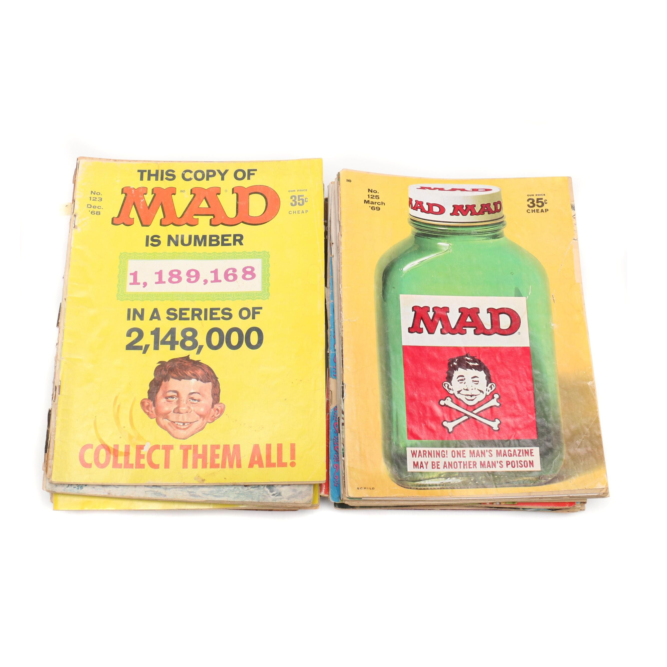 """1950s and 1960s """"Mad"""" Magazines Including """"The Worst From Mad"""" and More"""