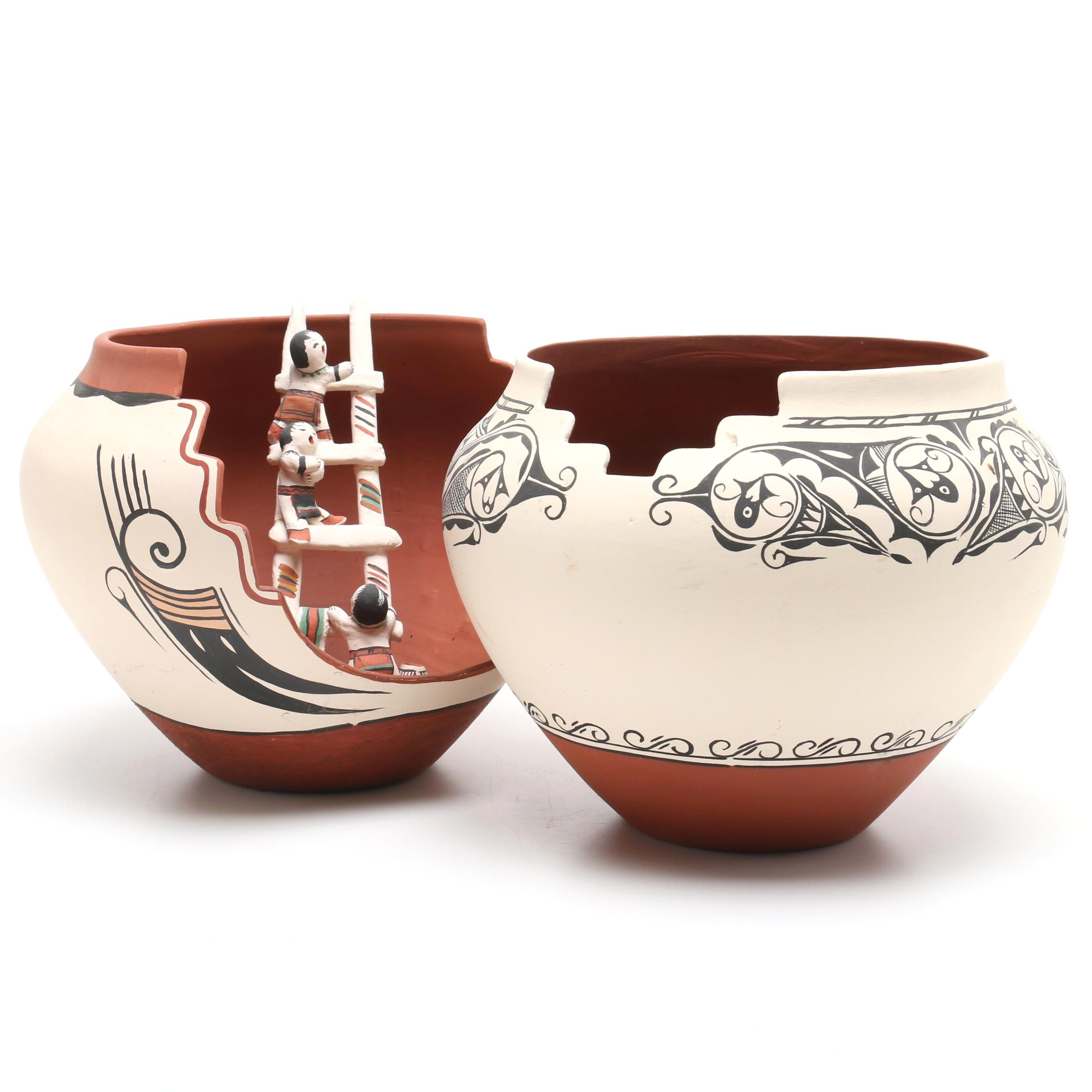 Josie Hand Cochito Hand-Painted Earthenware Ollas