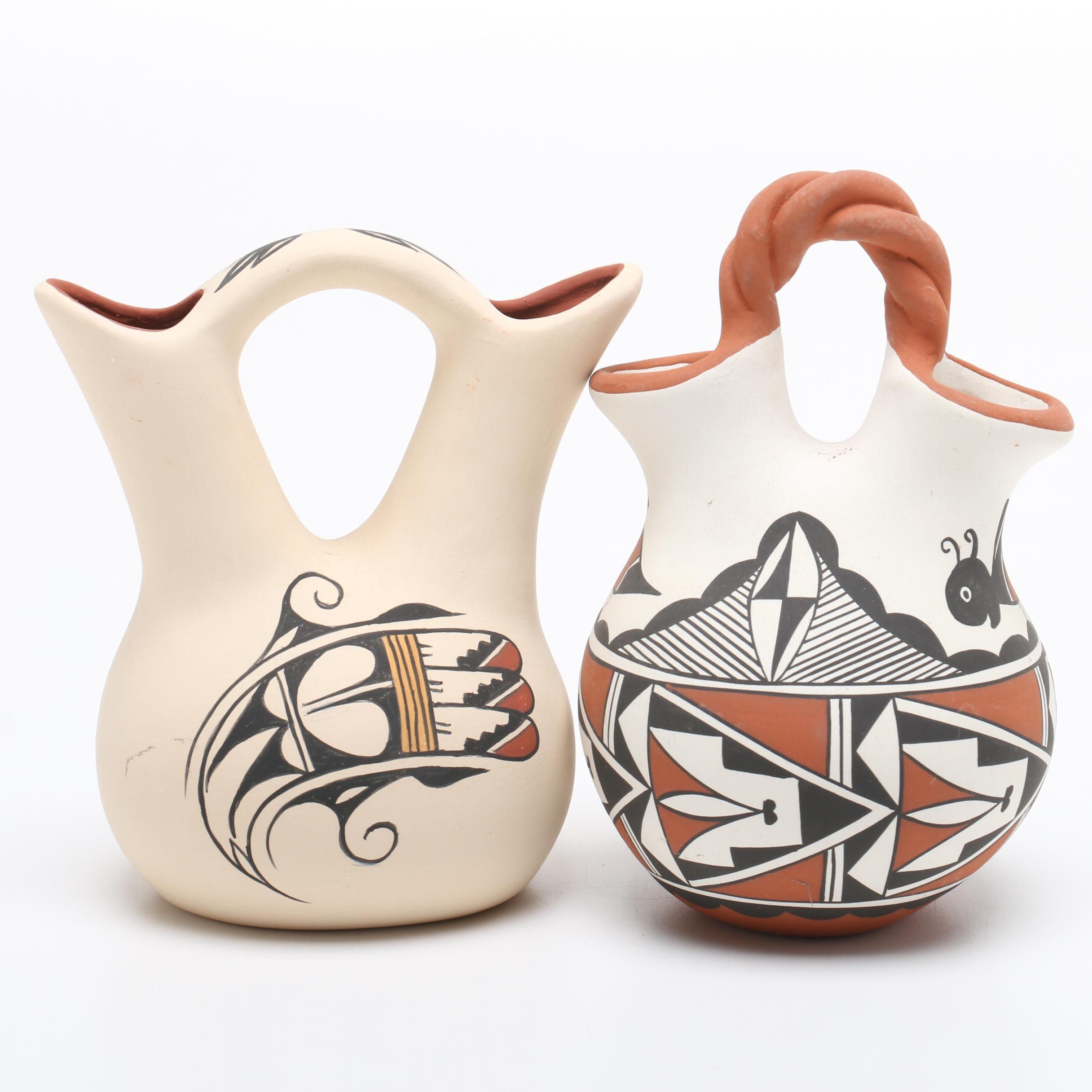 Native American Pueblo Polychrome Wedding Vases