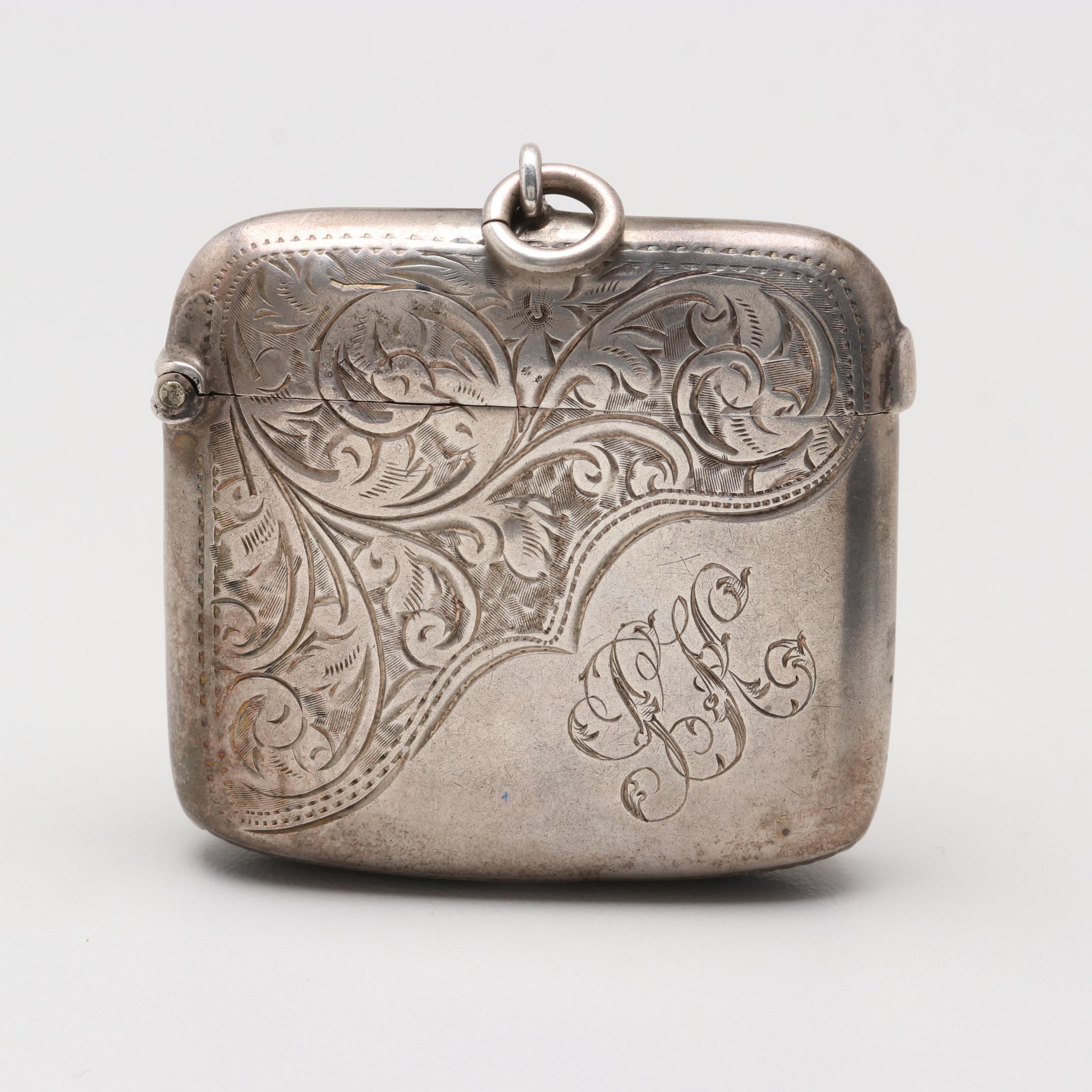1902 Arthur Cook Sterling Silver Match Safe
