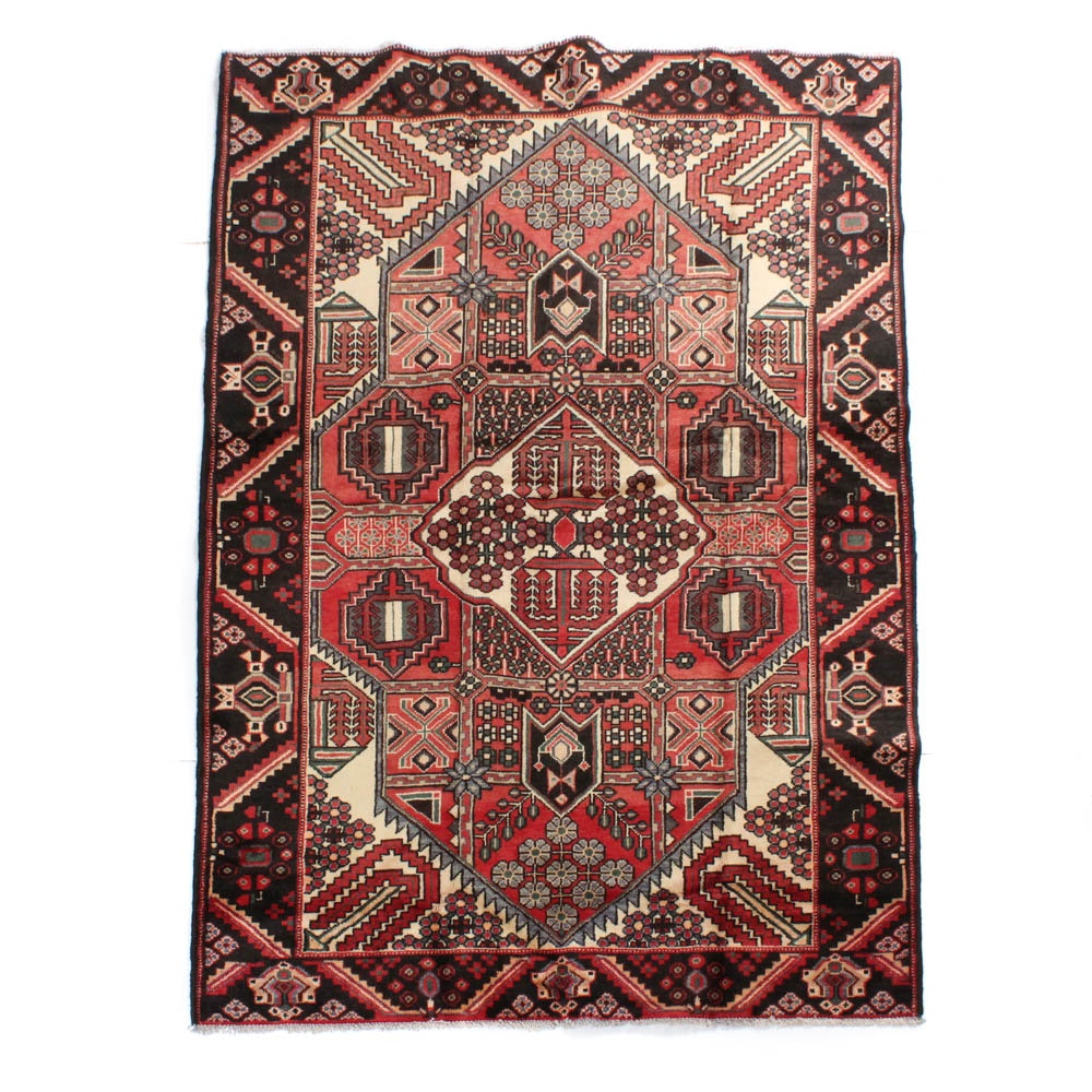 Hand-Knotted Persian Nahavand Rug