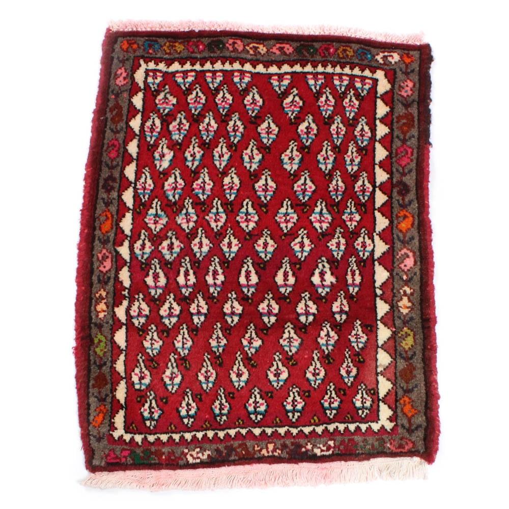 2'1 x 2'9 Hand-Knotted Persian Zanjan Rug, circa 1970