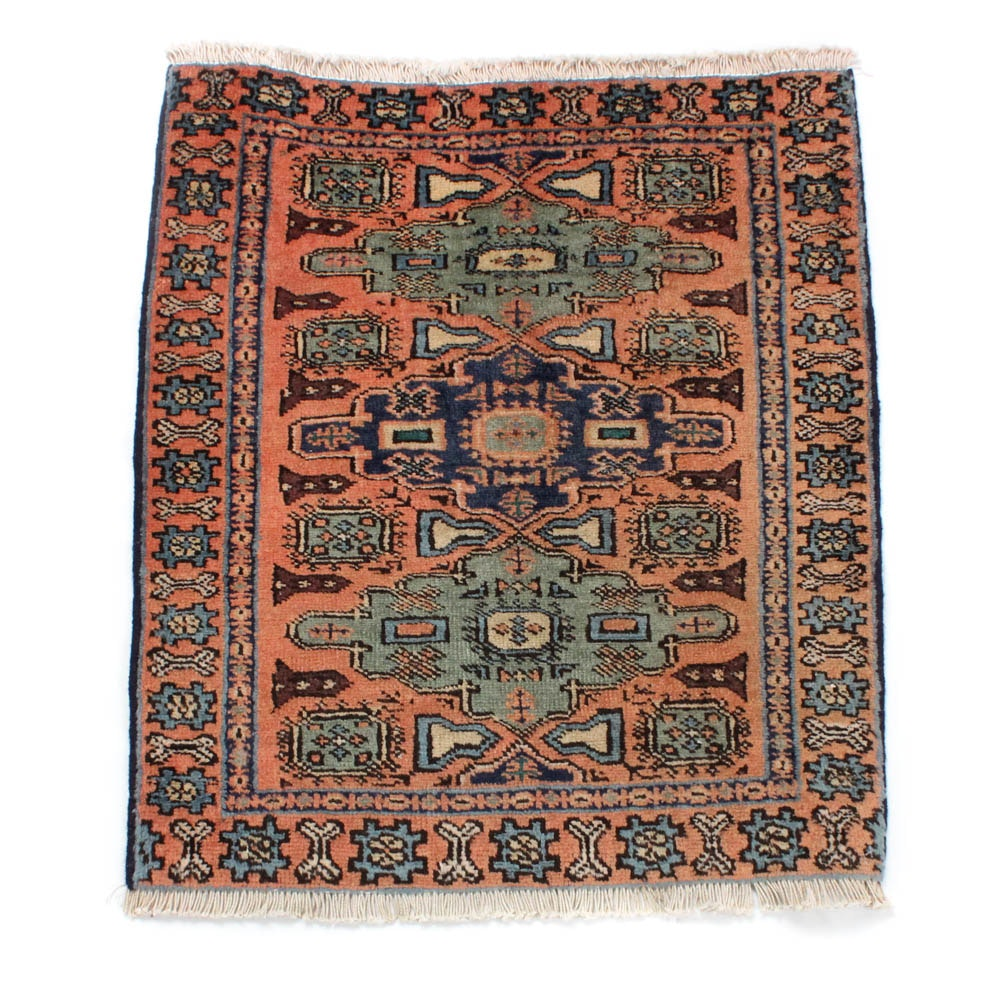 1'11 x 2'4 Hand-Knotted Persian Ardebil Rug, circa 1970
