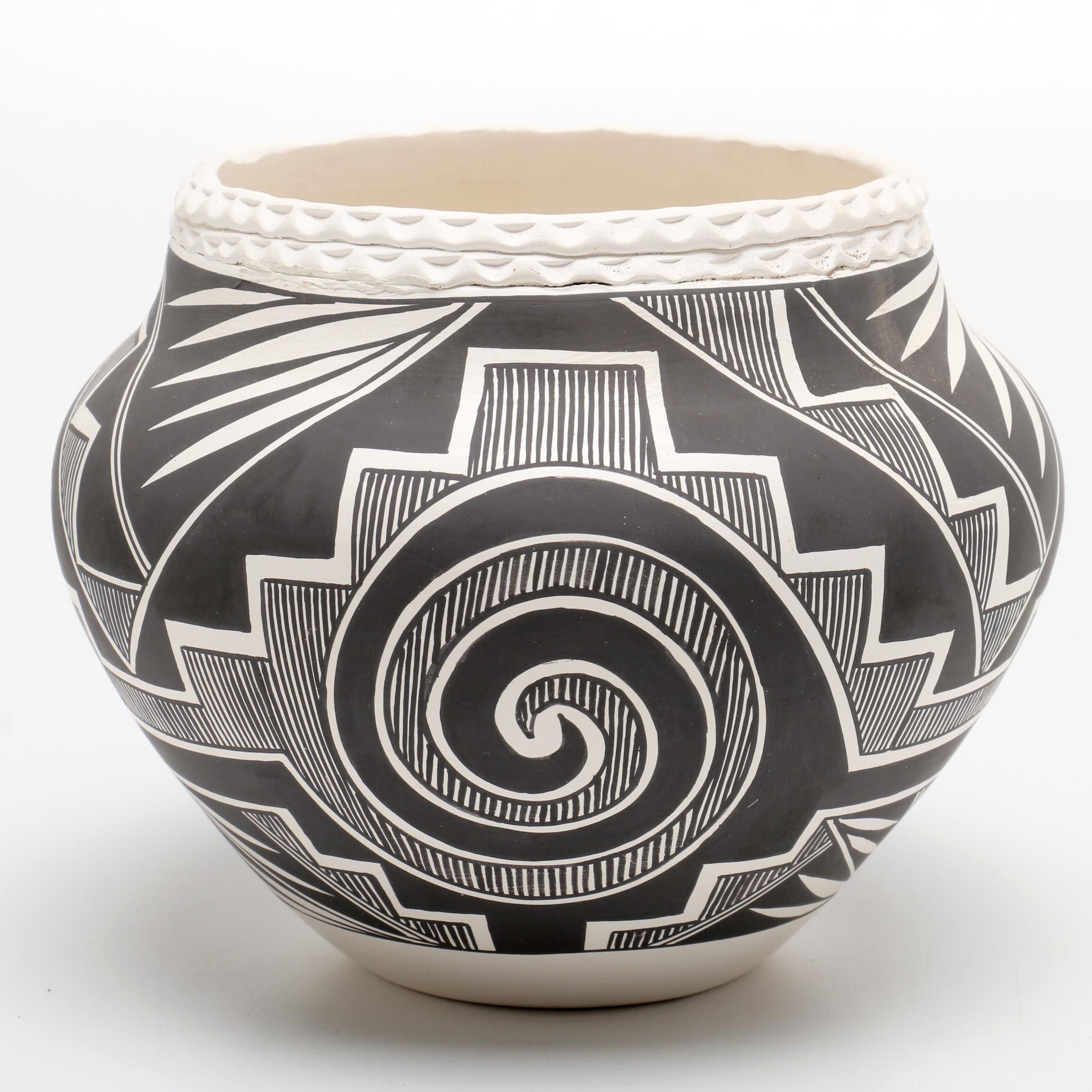 Acoma Hand Decorated Clay Vessel