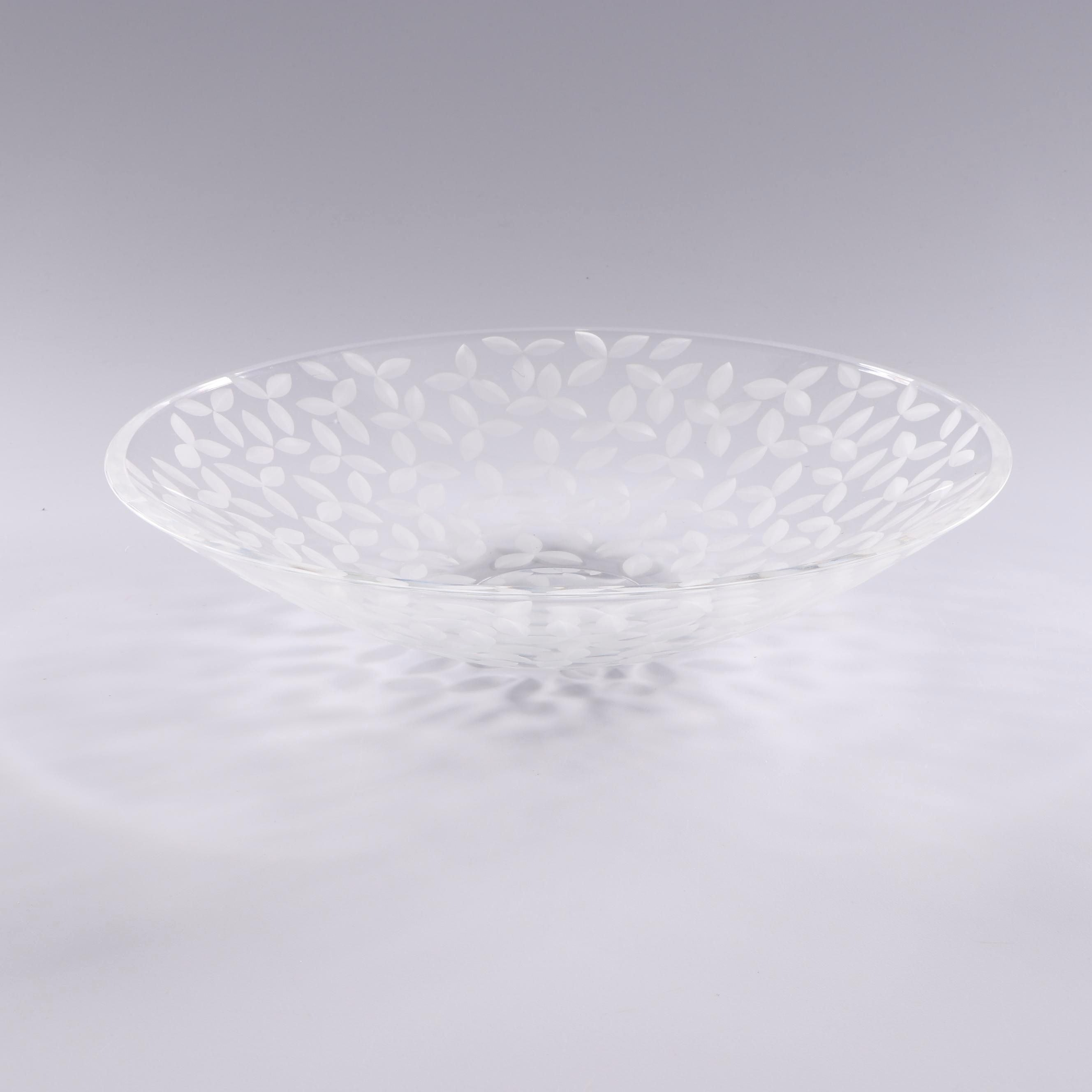 Tiffany & Co. Etched Glass Serving Bowl