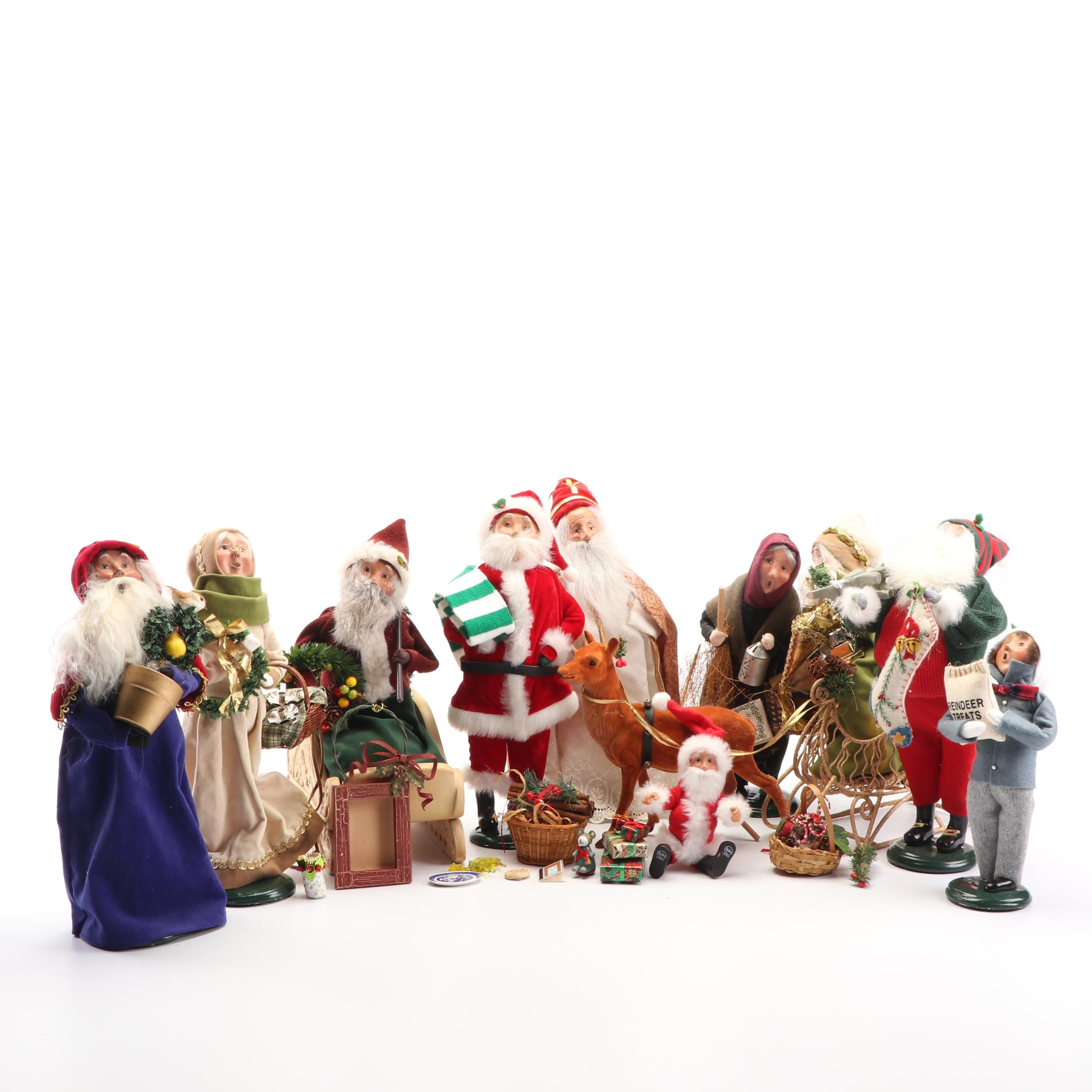 Byers' Choice Carolers and Santa Figures Including Accessories