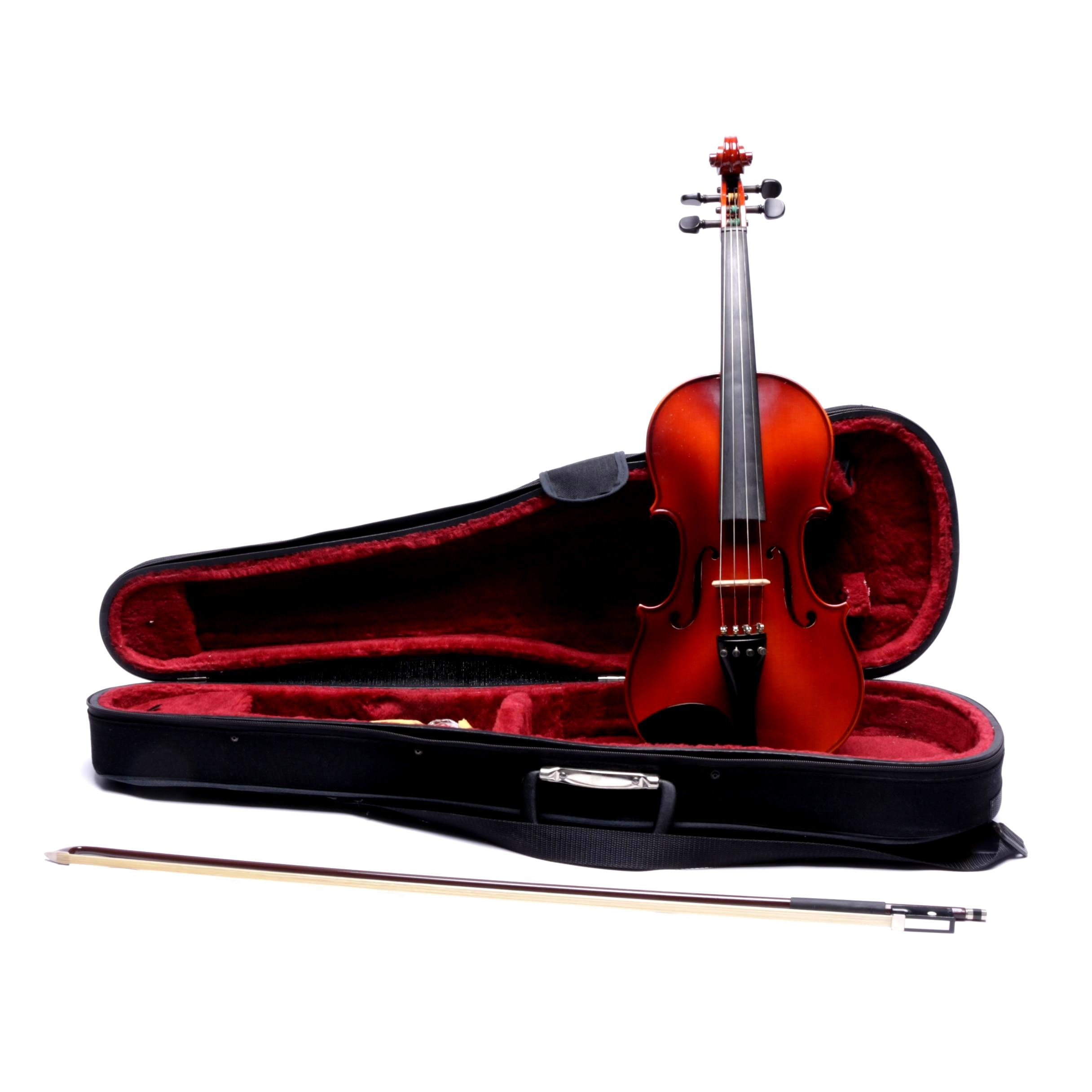 Student 4/4 Violin with Case and Bow