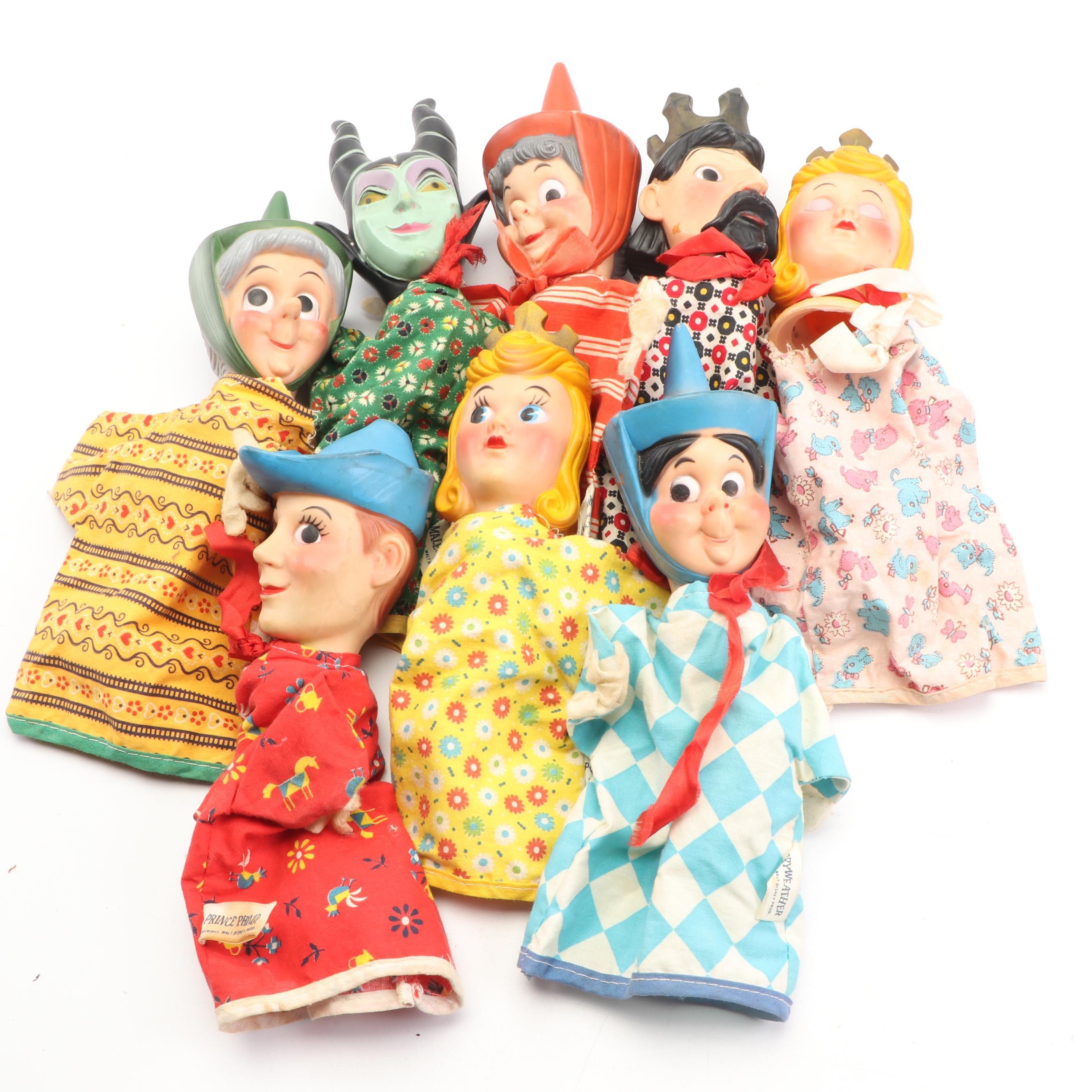 "Walt Disney Prod. ""Sleeping Beauty"" Hand Puppets, circa 1950"