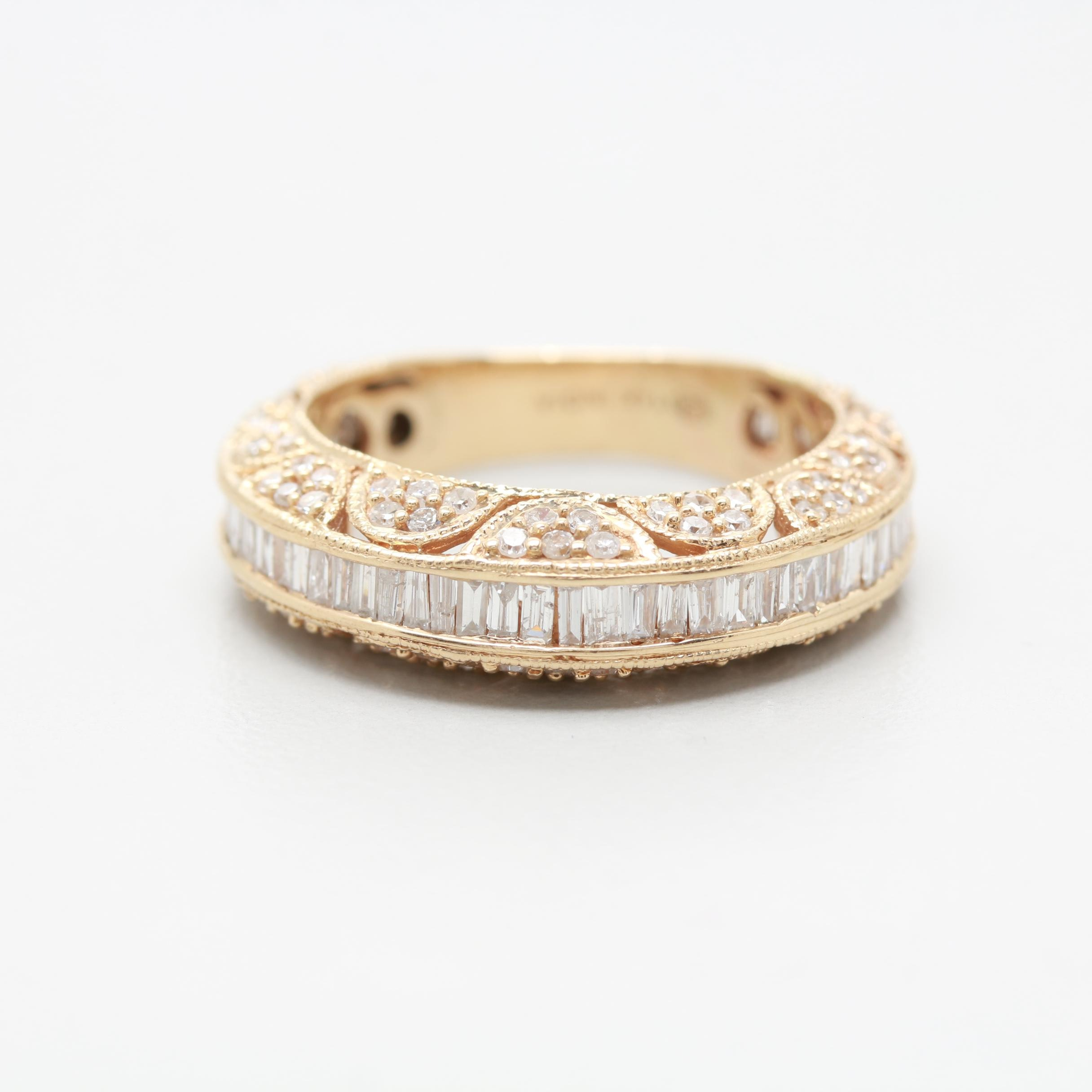 14K Yellow Gold 1.25 CTW Diamond Ring