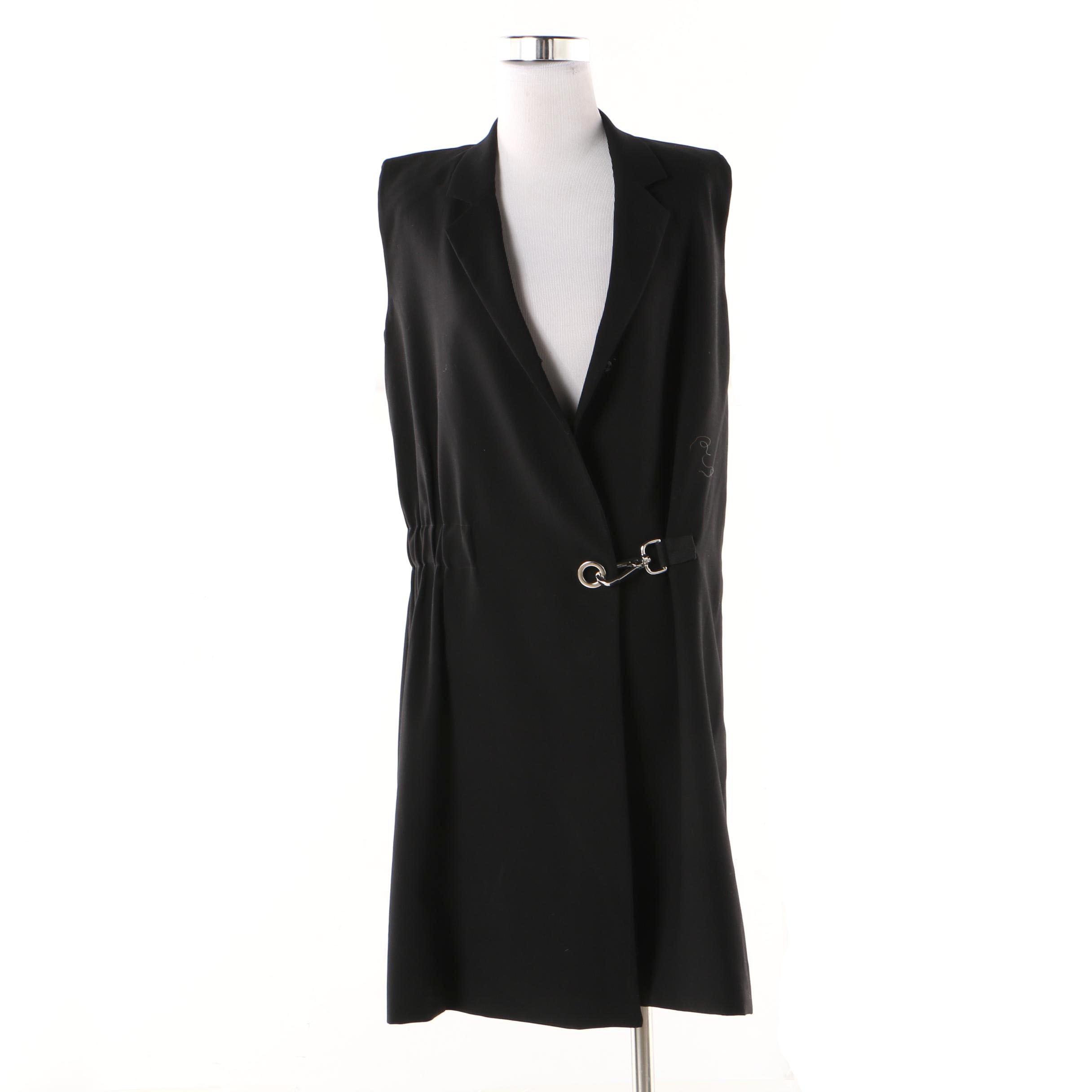 Women's Public School New York Fiona Black Vest Midi Dress