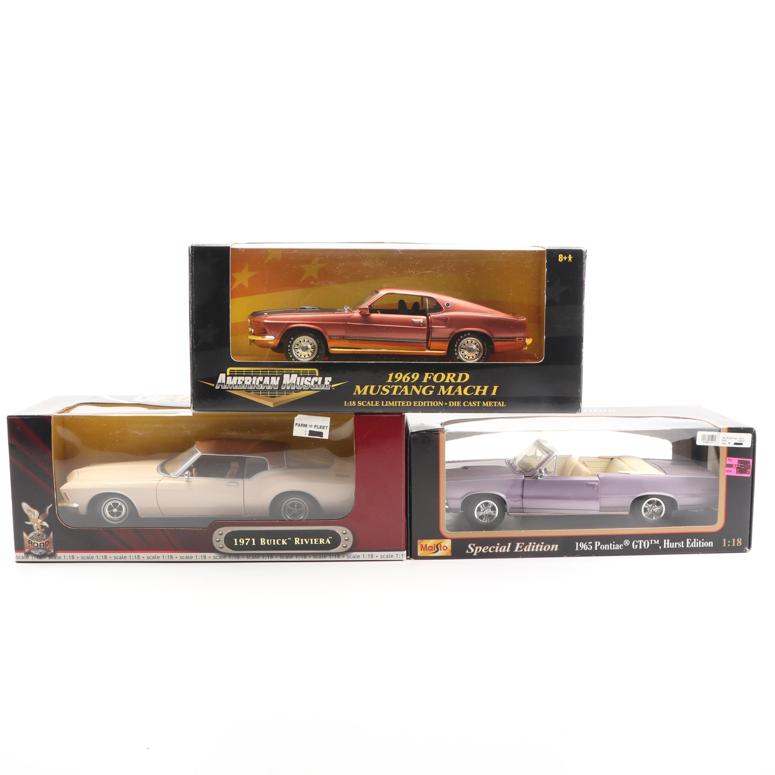 1960s-1970s Die-Cast Cars including Maisto and American Muscle