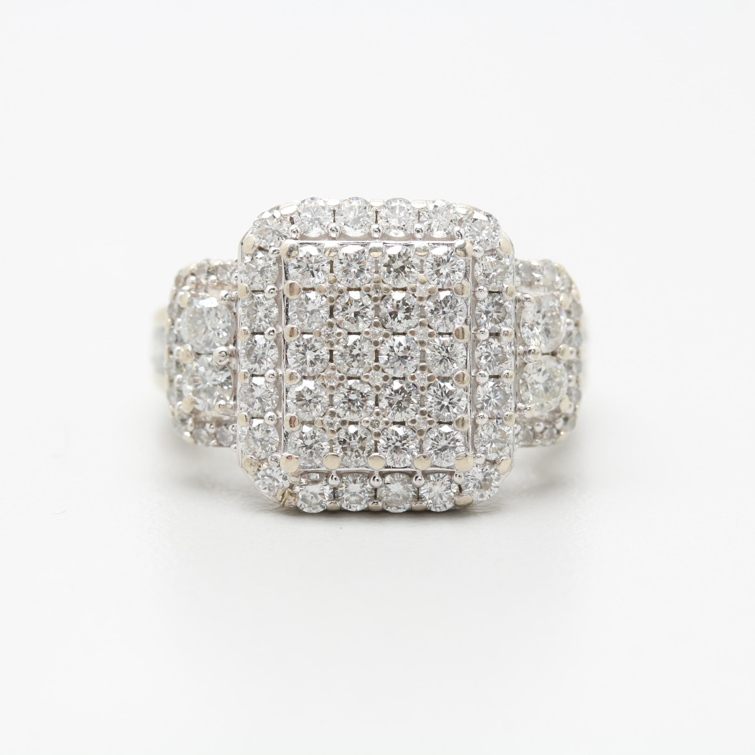 14K White Gold 1.92 CTW Diamond Ring