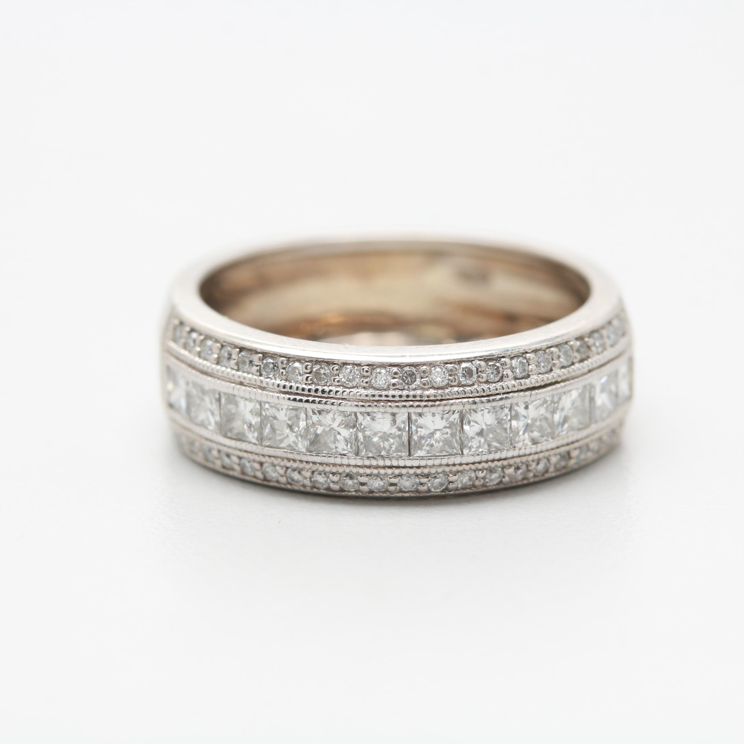 14K White Gold 0.99 CTW Diamond Ring