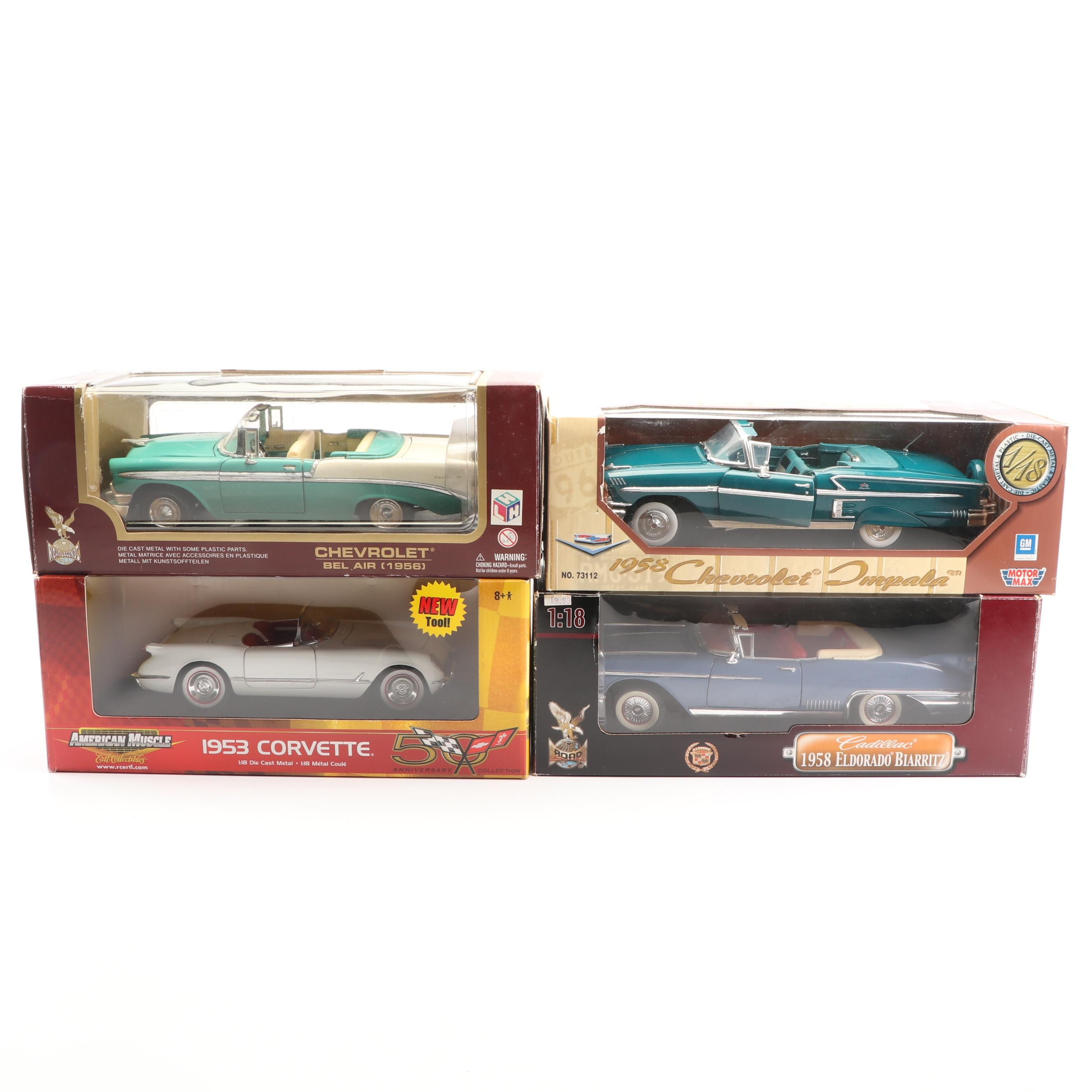 1950s Die-Cast Cars including Road Signature and American Muscle