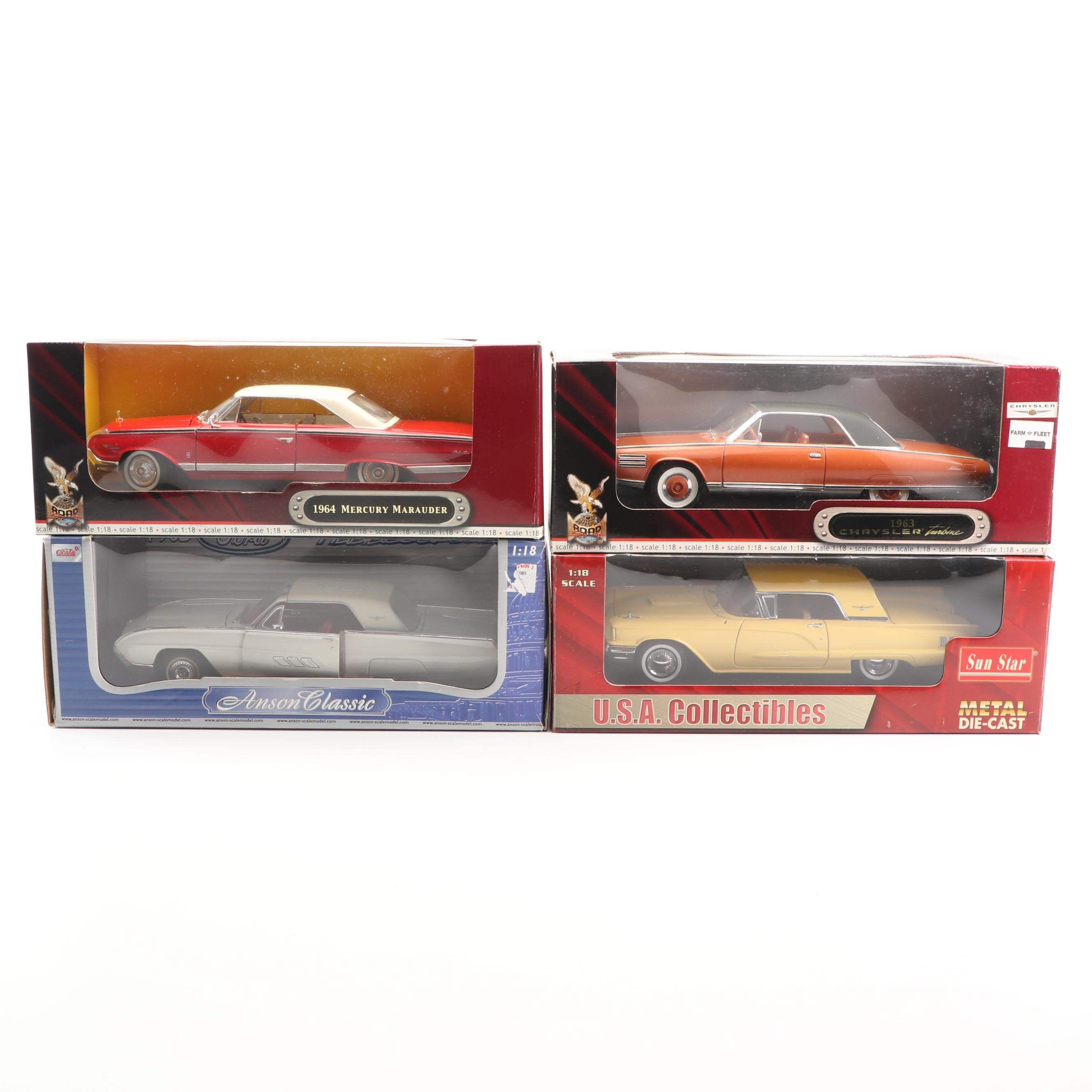 1960s Die-Cast Cars including Sun Star and Road Signature